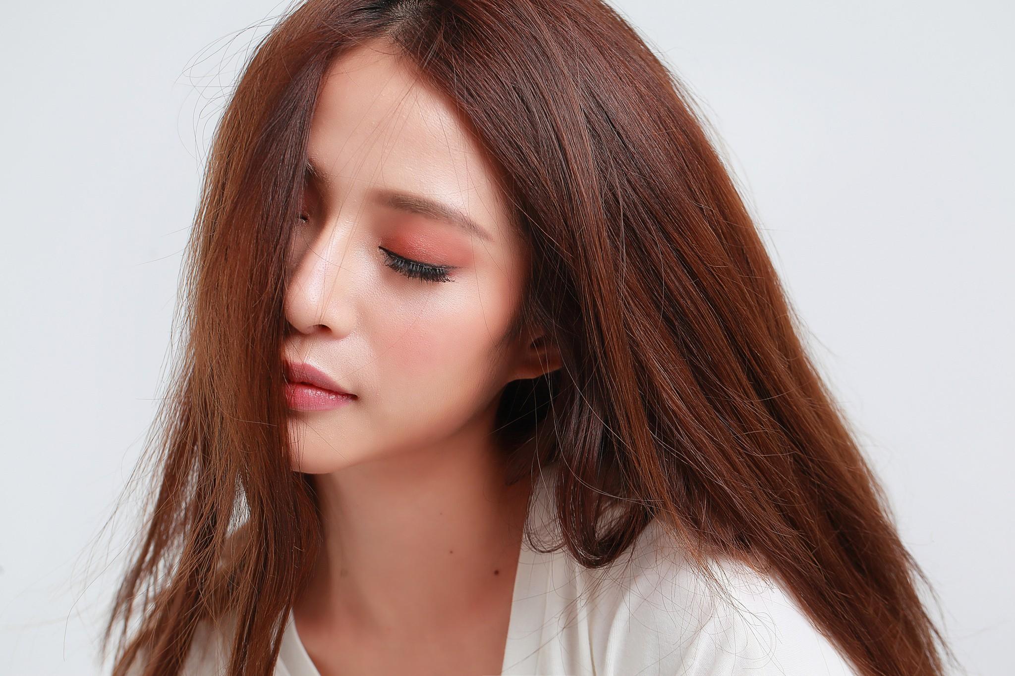 Hintergrundbilder Gesicht Frau Modell Lange Haare