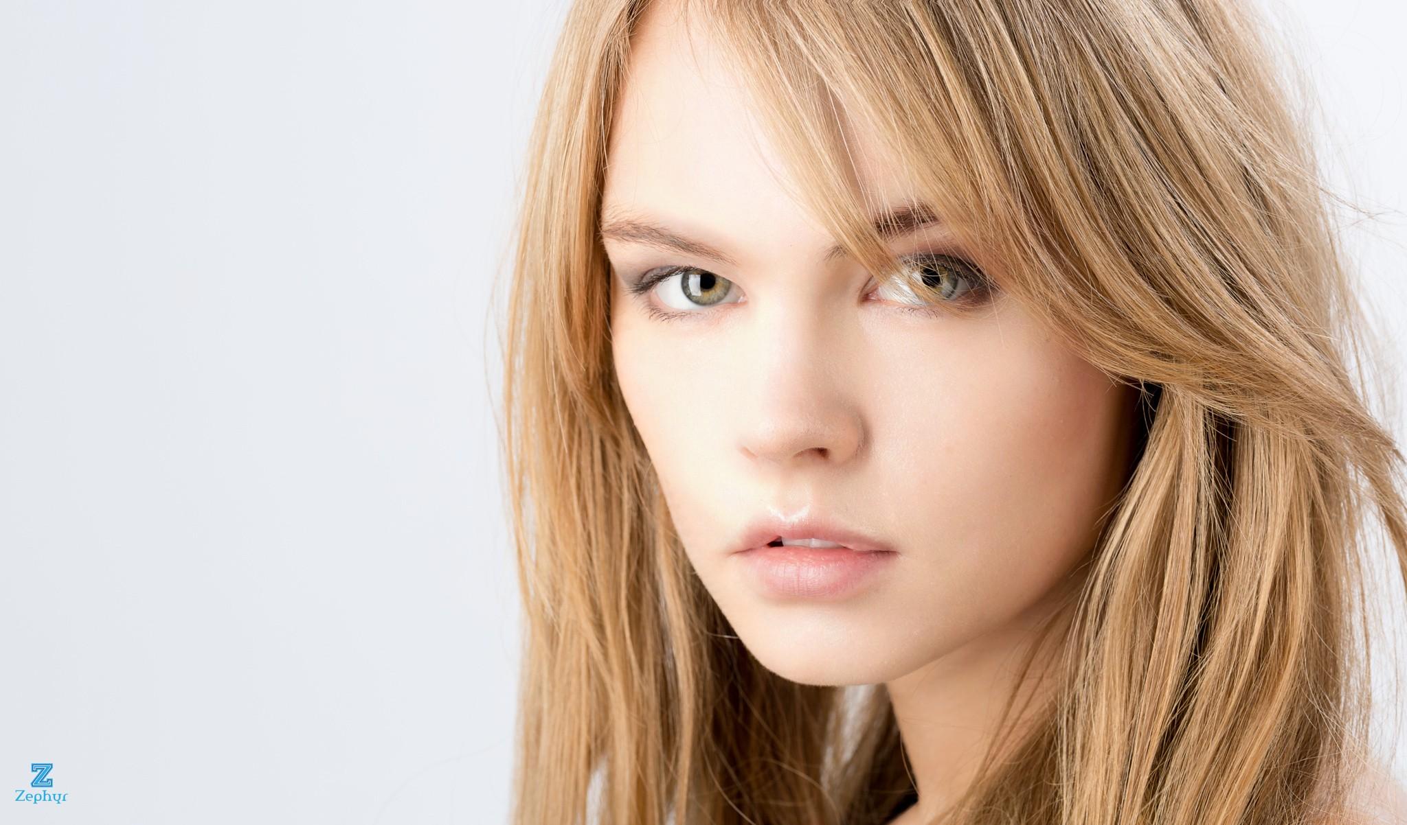 Wallpaper Face Women Model Blonde Long Hair Anastasia