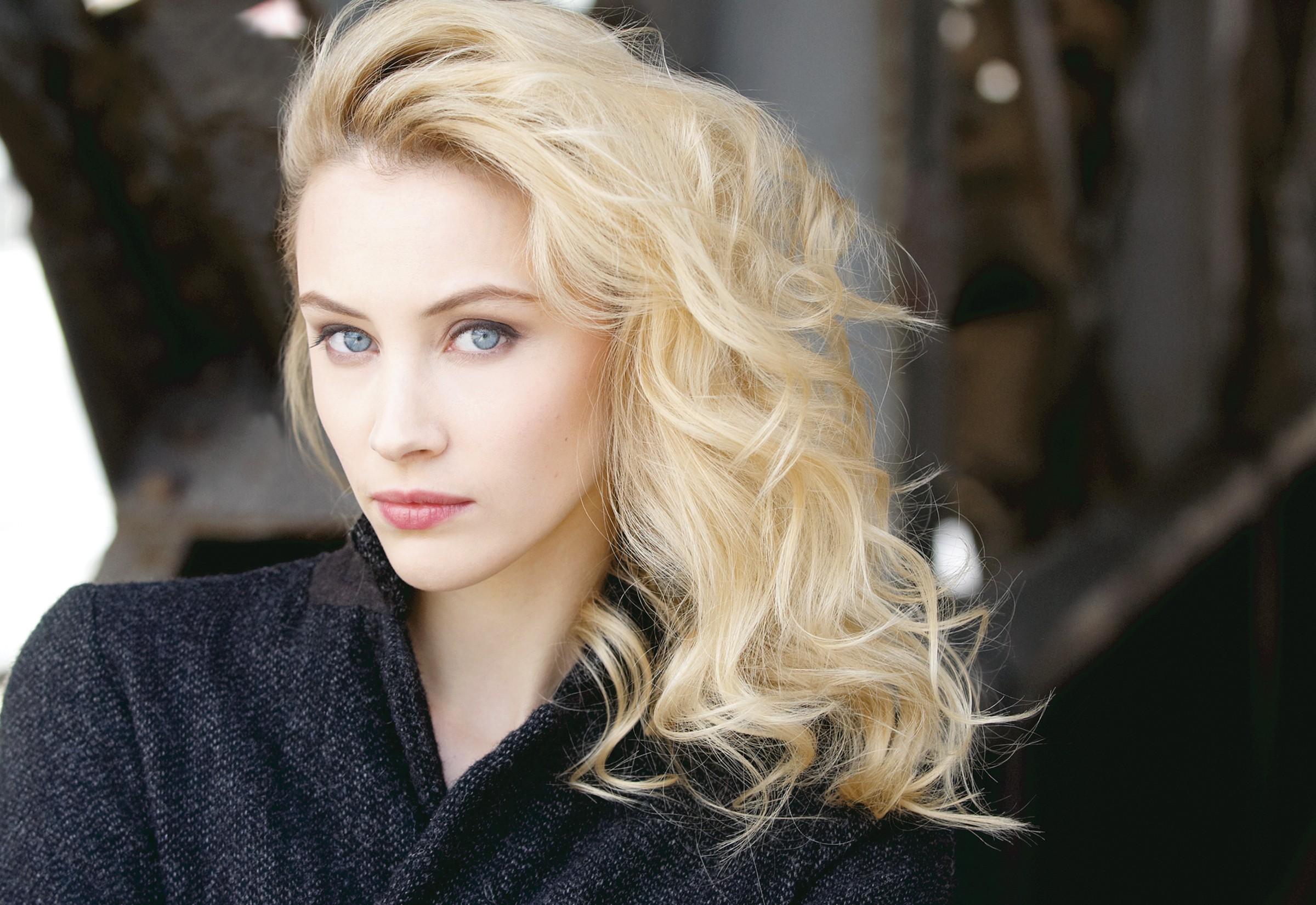 Wallpaper Face Women Model Blonde Long Hair Blue Eyes