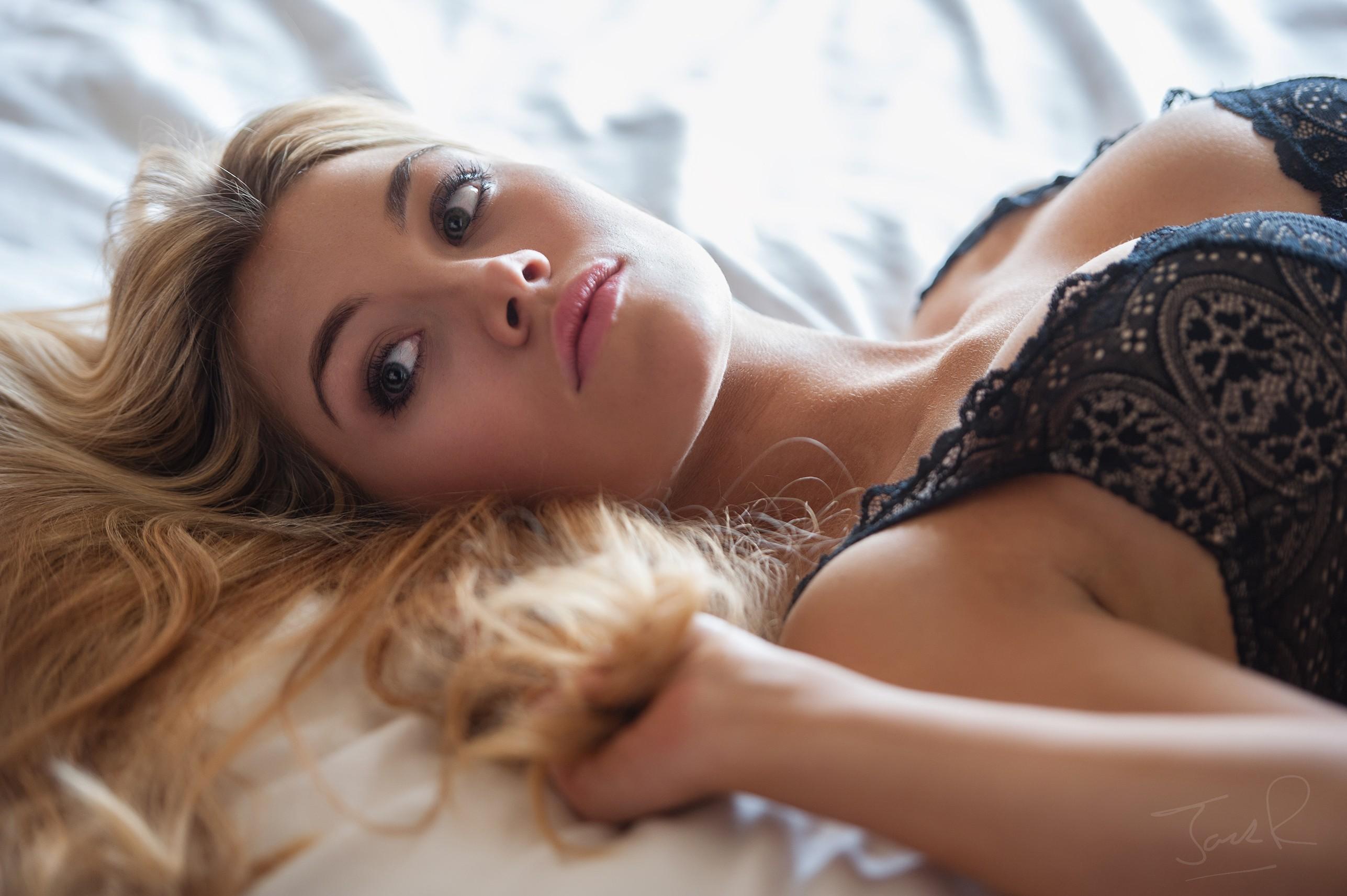 Beautiful Blonde Woman Jilling