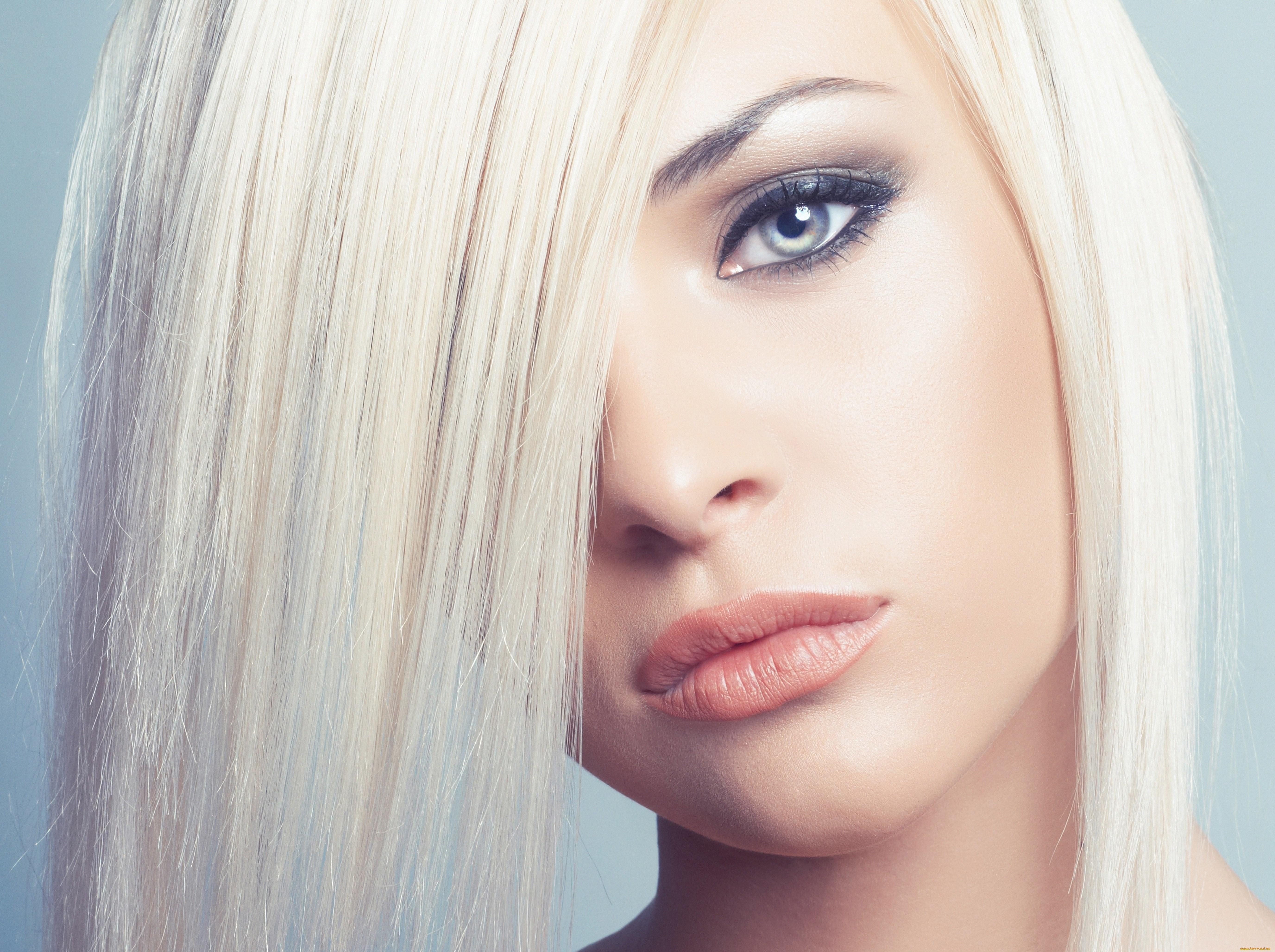 Wallpaper Face Women Model Blonde Long Hair Blue: Wallpaper : Face, Women, Model, Portrait, Eyes, Long Hair