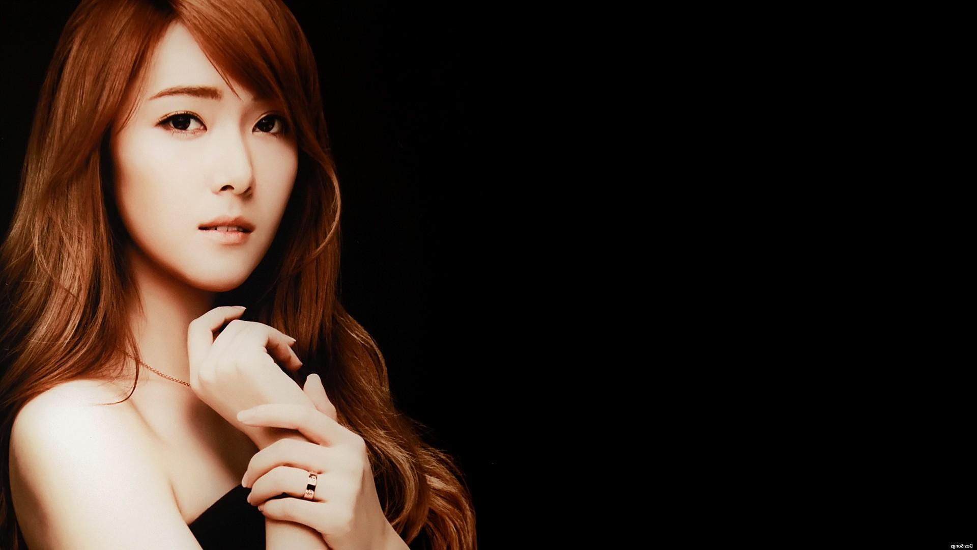 Wallpaper Face Women Long Hair Asian Singer Black Hair
