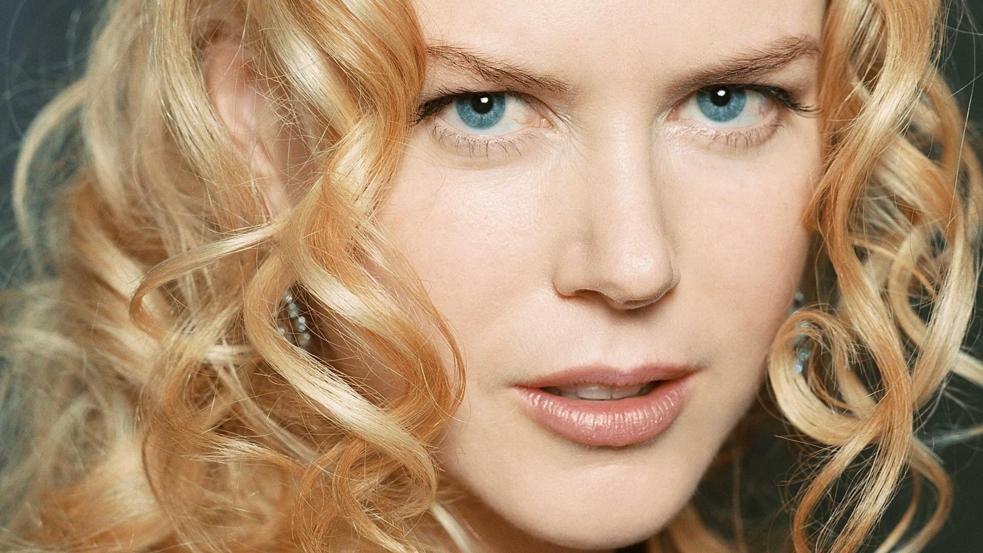 Wallpaper Face Women Model Long Hair Blue Eyes Celebrity