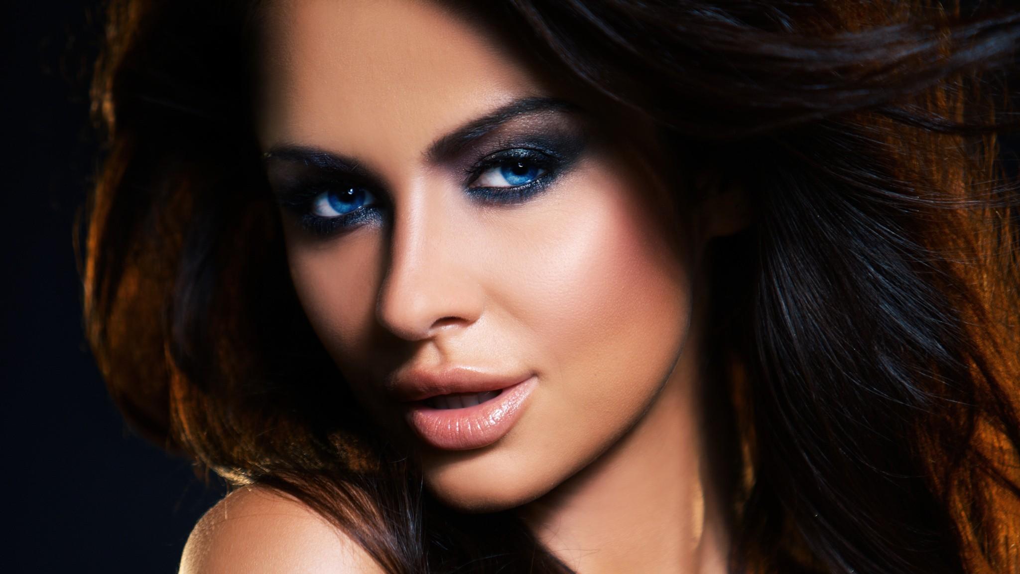 Wallpaper Women Model Long Hair Asian Singer Blue: Wallpaper : Face, Women, Model, Long Hair, Blue Eyes