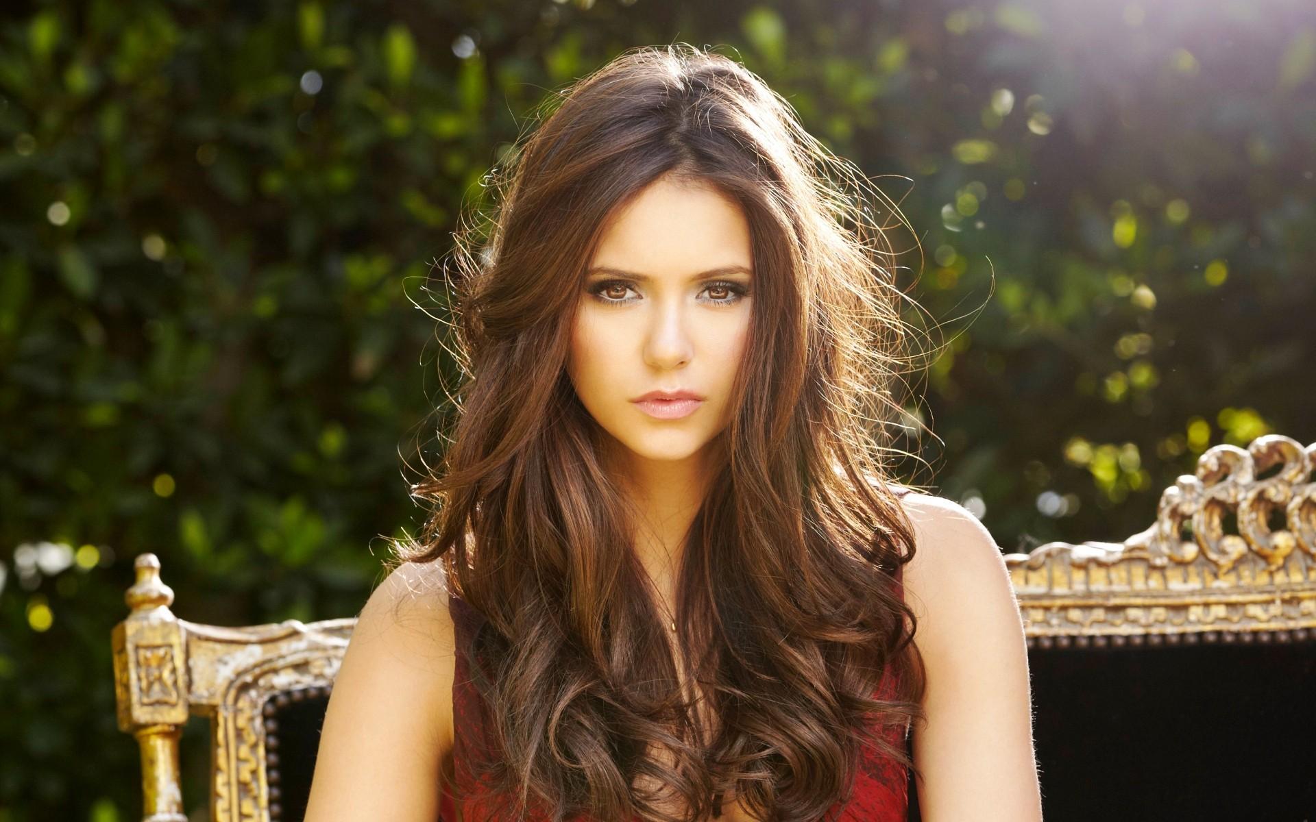 Wallpaper Face Women Model Long Hair Brunette Actress Dress