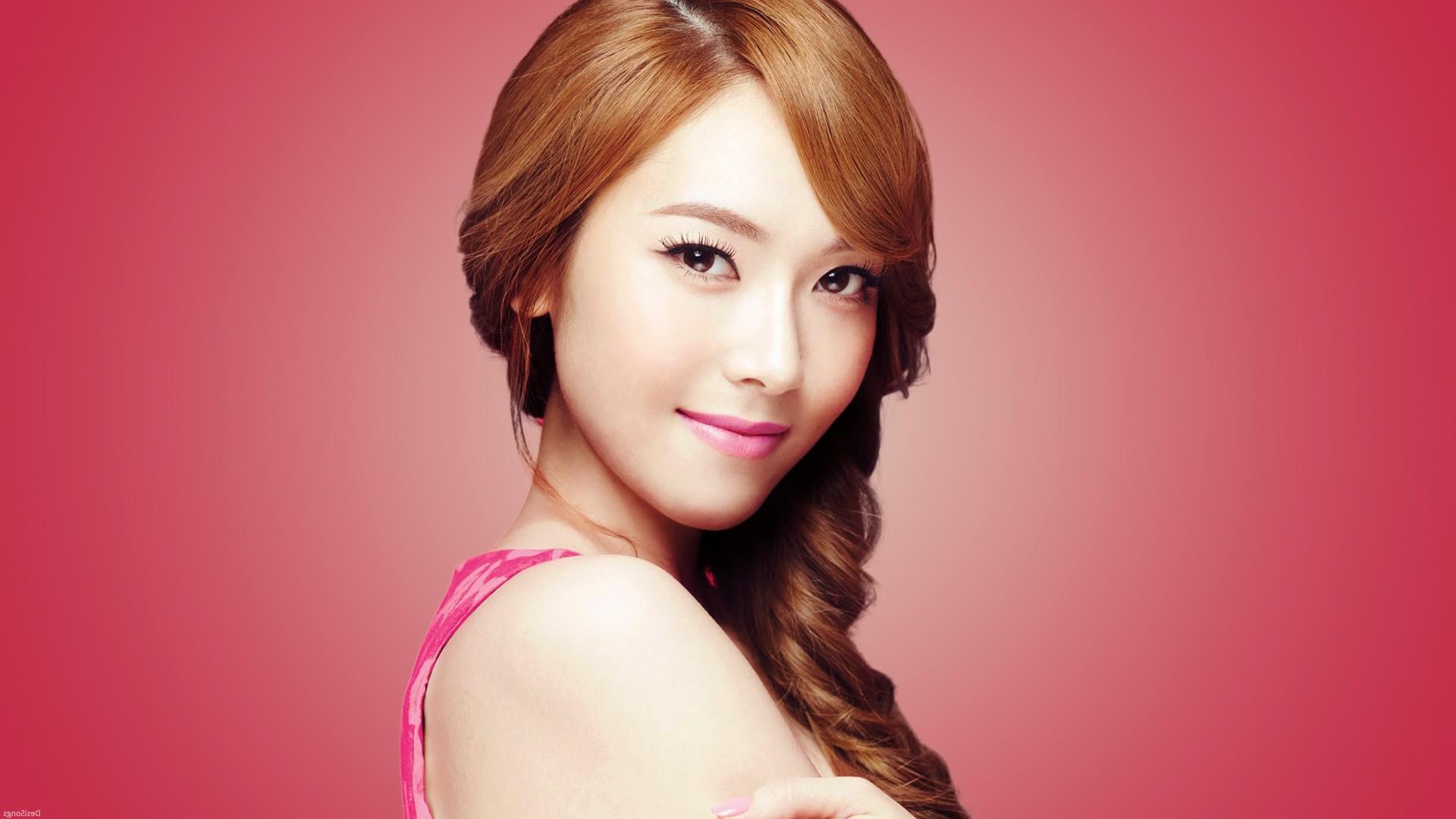 Wallpaper Women Model Long Hair Asian Singer Blue: Wallpaper : Face, Women, Model, Long Hair, Brunette, Red