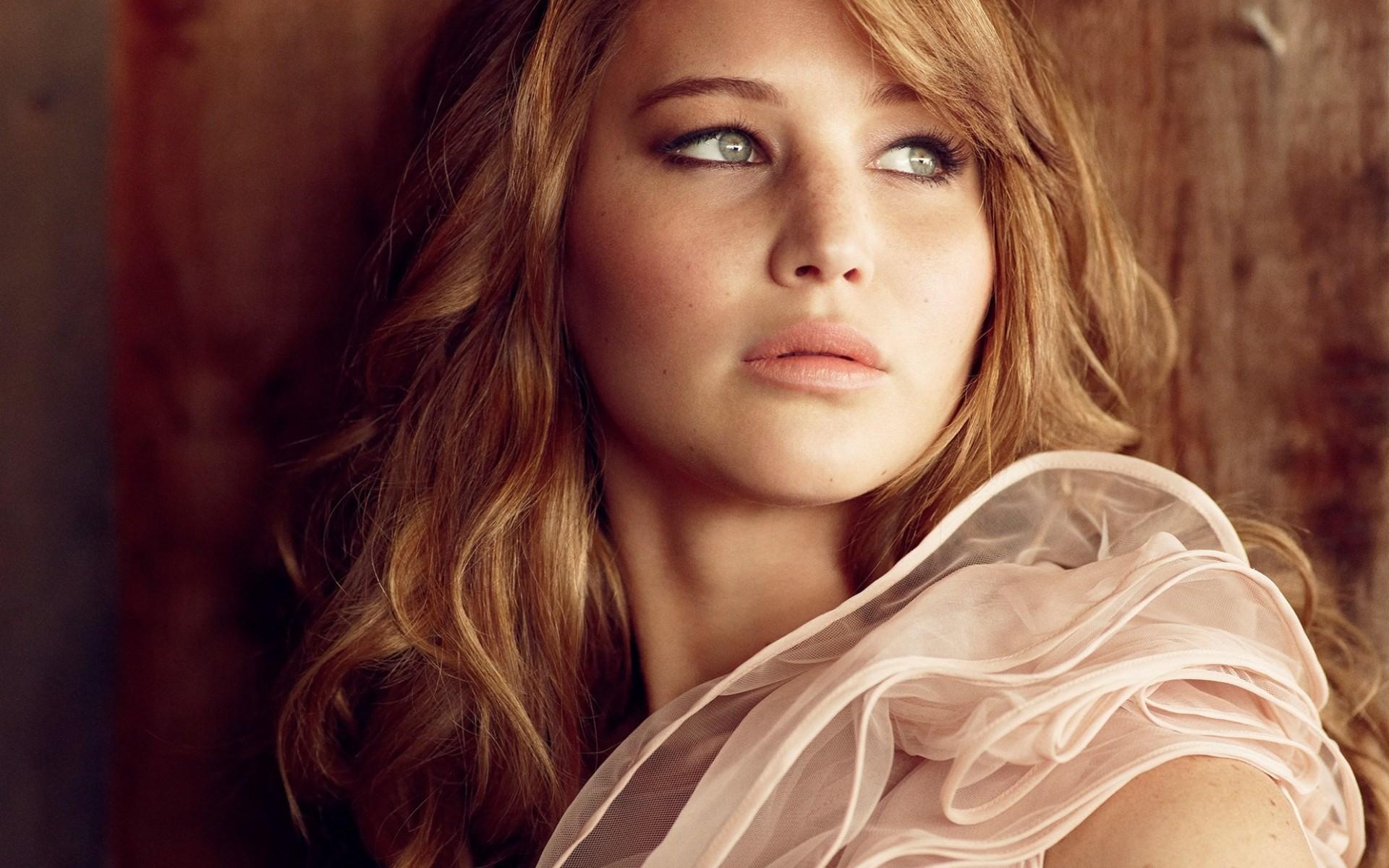 Wallpaper Face Women Long Hair Actress Nose Jennifer Lawrence