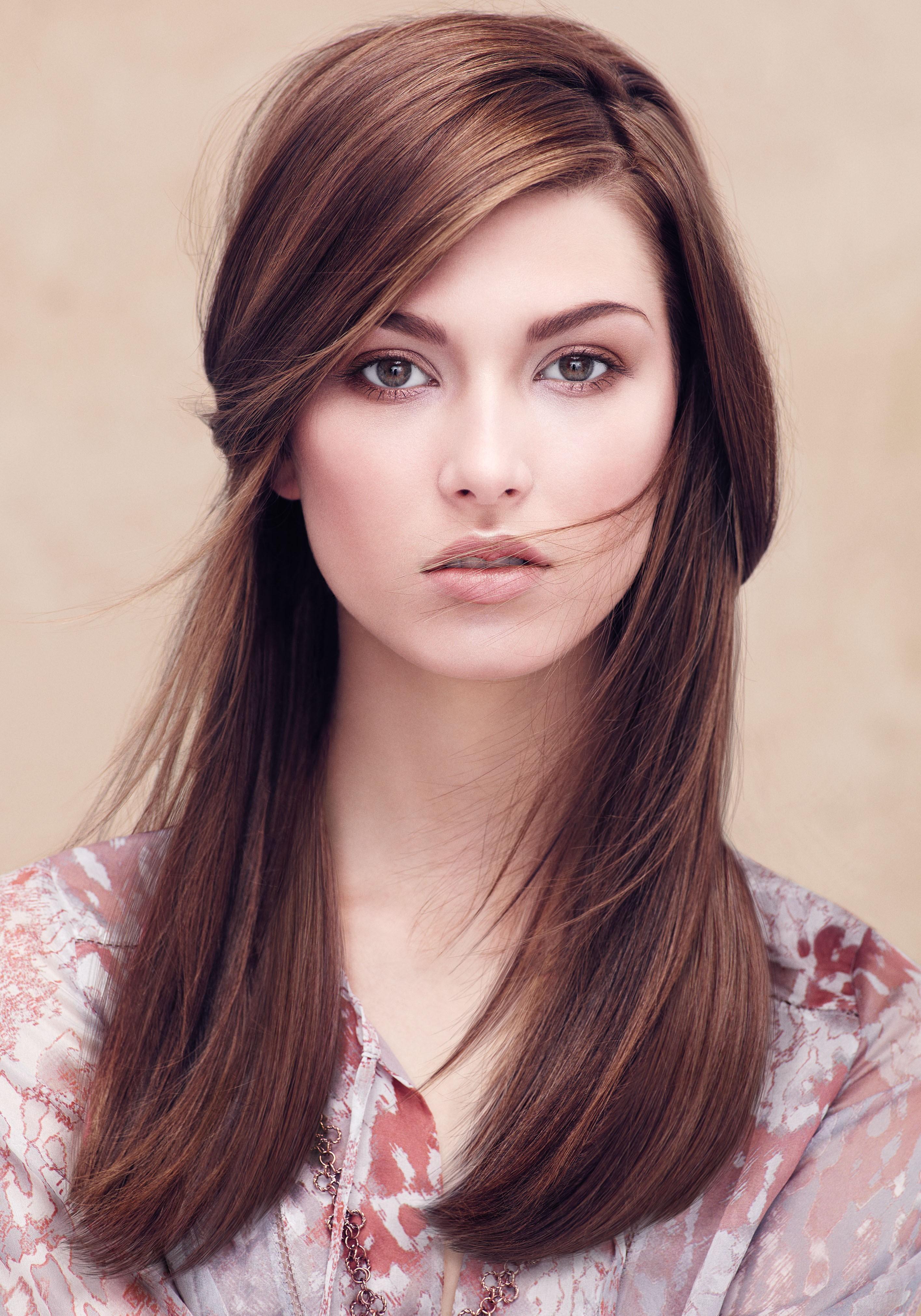 Цвет волос для светлой кожи и круглого лица