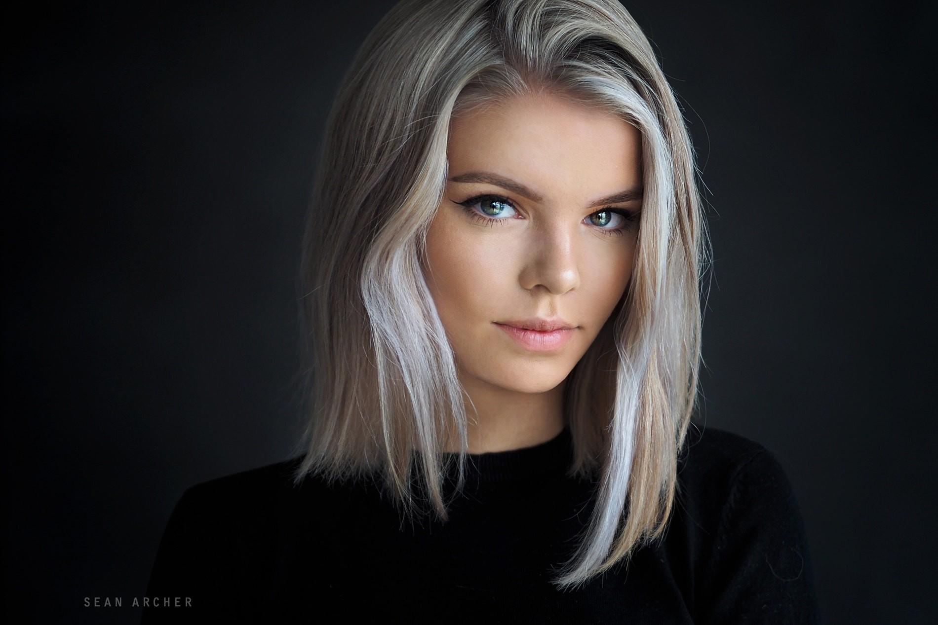 Hintergrundbilder Gesicht Frau Modell Portrat Einfacher