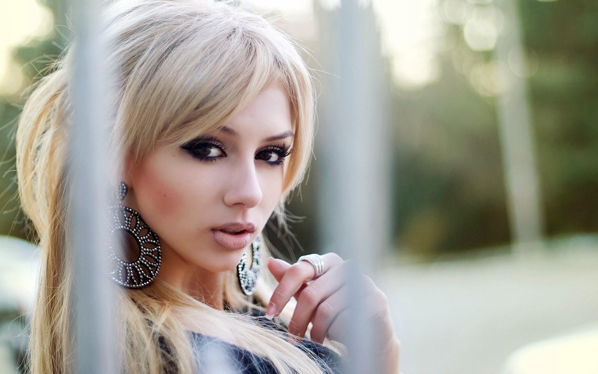Wallpaper : Face, Women Outdoors, Model, Blonde, Depth Of