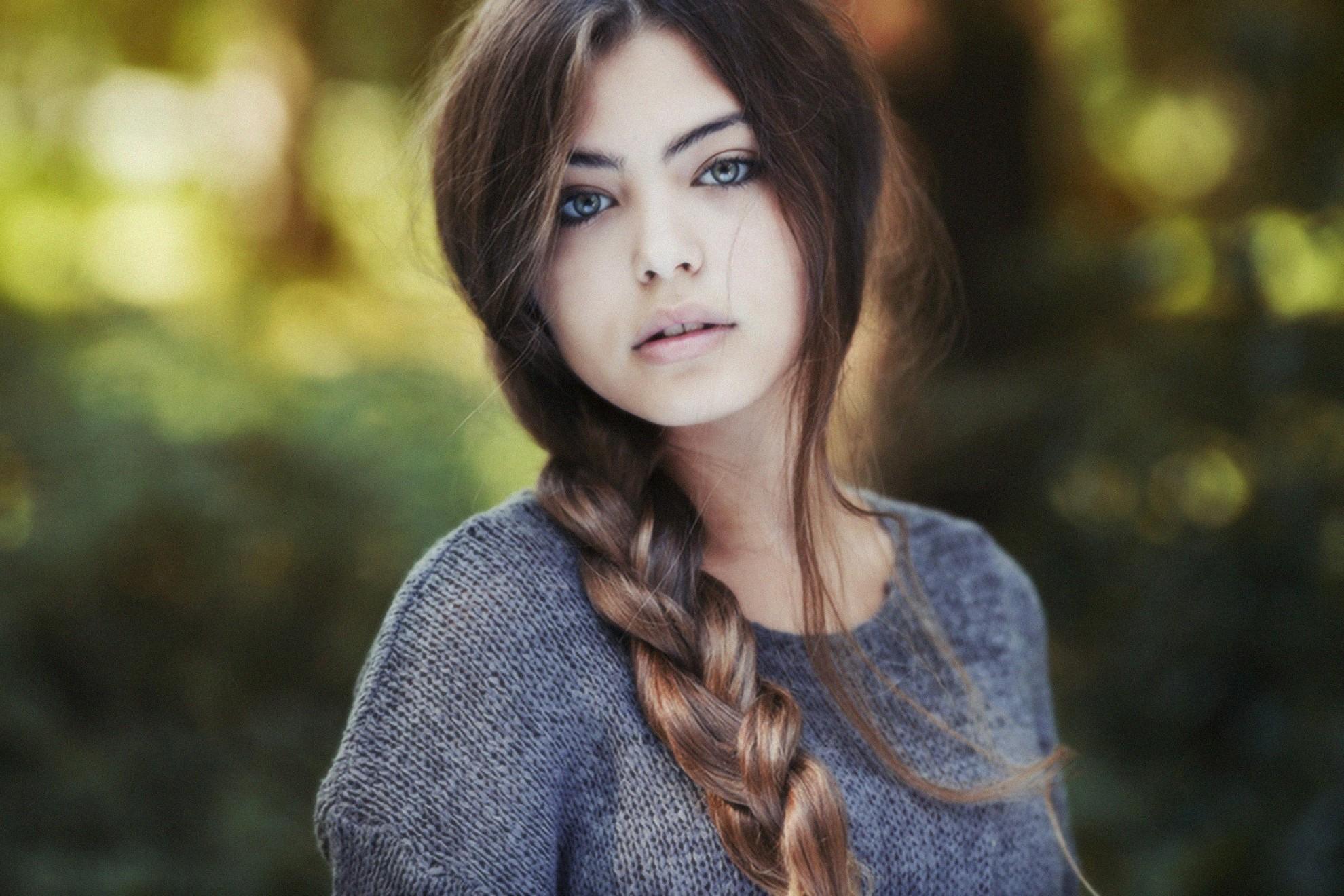 Wallpaper Face Women Outdoors Model Long Hair