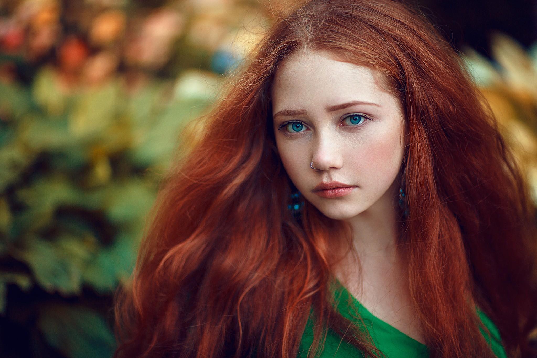 wallpaper face women outdoors redhead model depth of. Black Bedroom Furniture Sets. Home Design Ideas