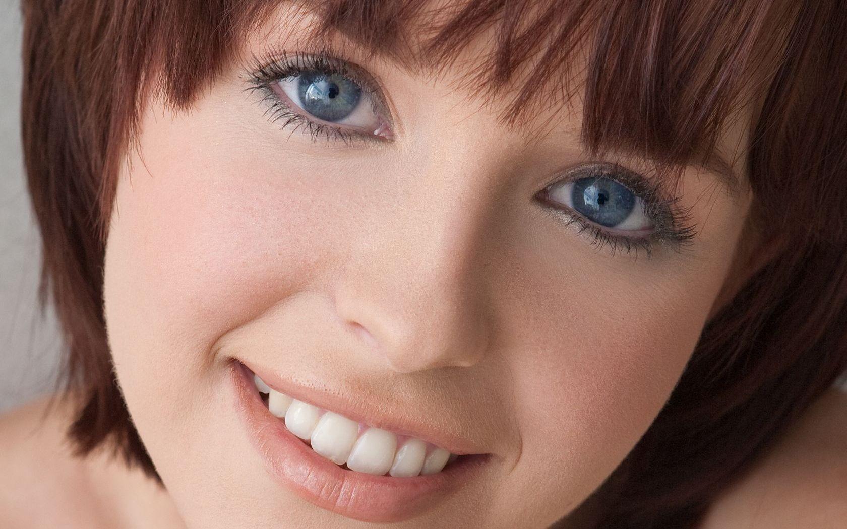 Glasses Pornstar Open Mouth Looking At Viewer Closeup Smiling Black Hair Bangs Teeth Nose Emotion Skin Head Hayden Winters Girl Beauty
