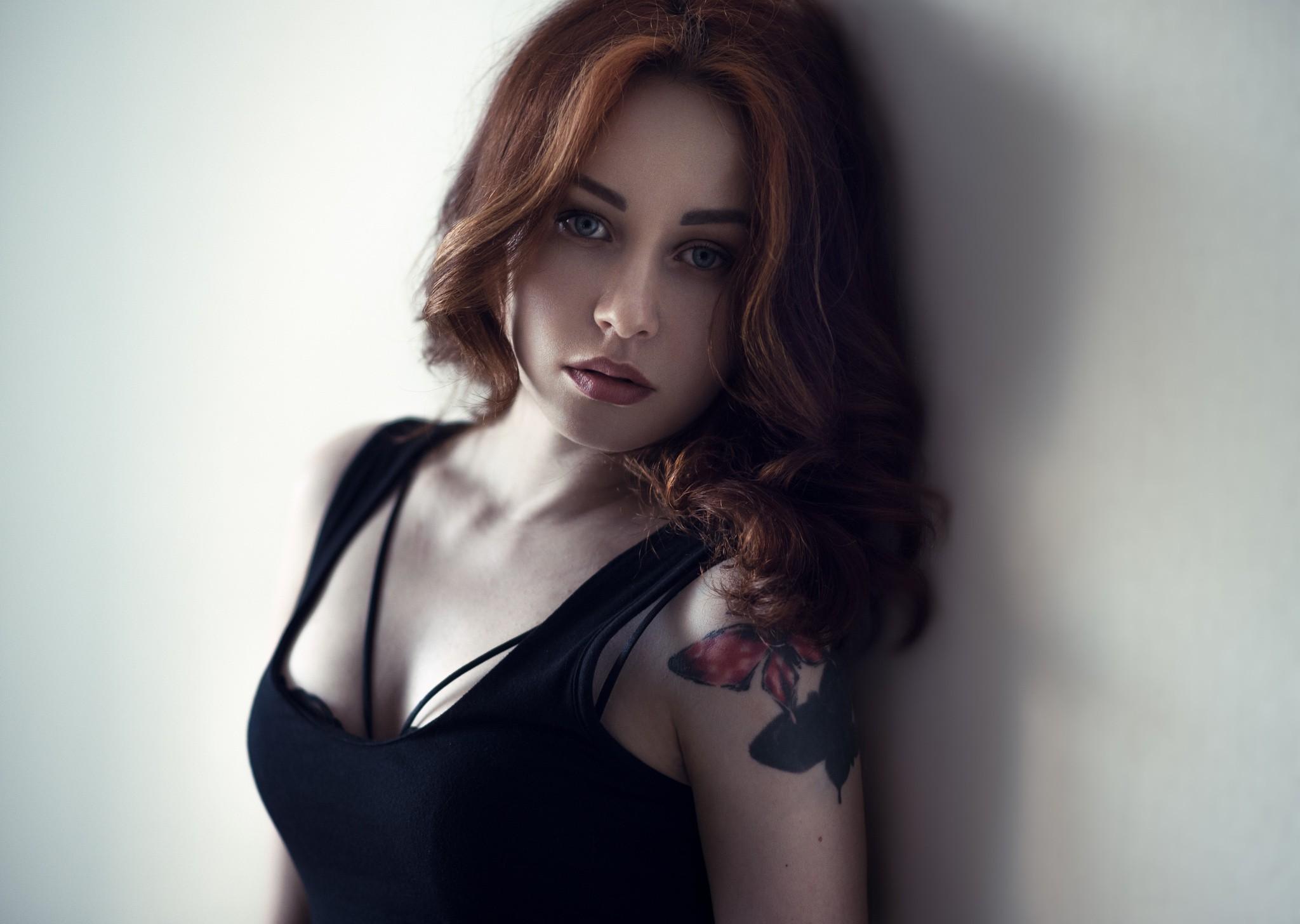 Redhead girls bras