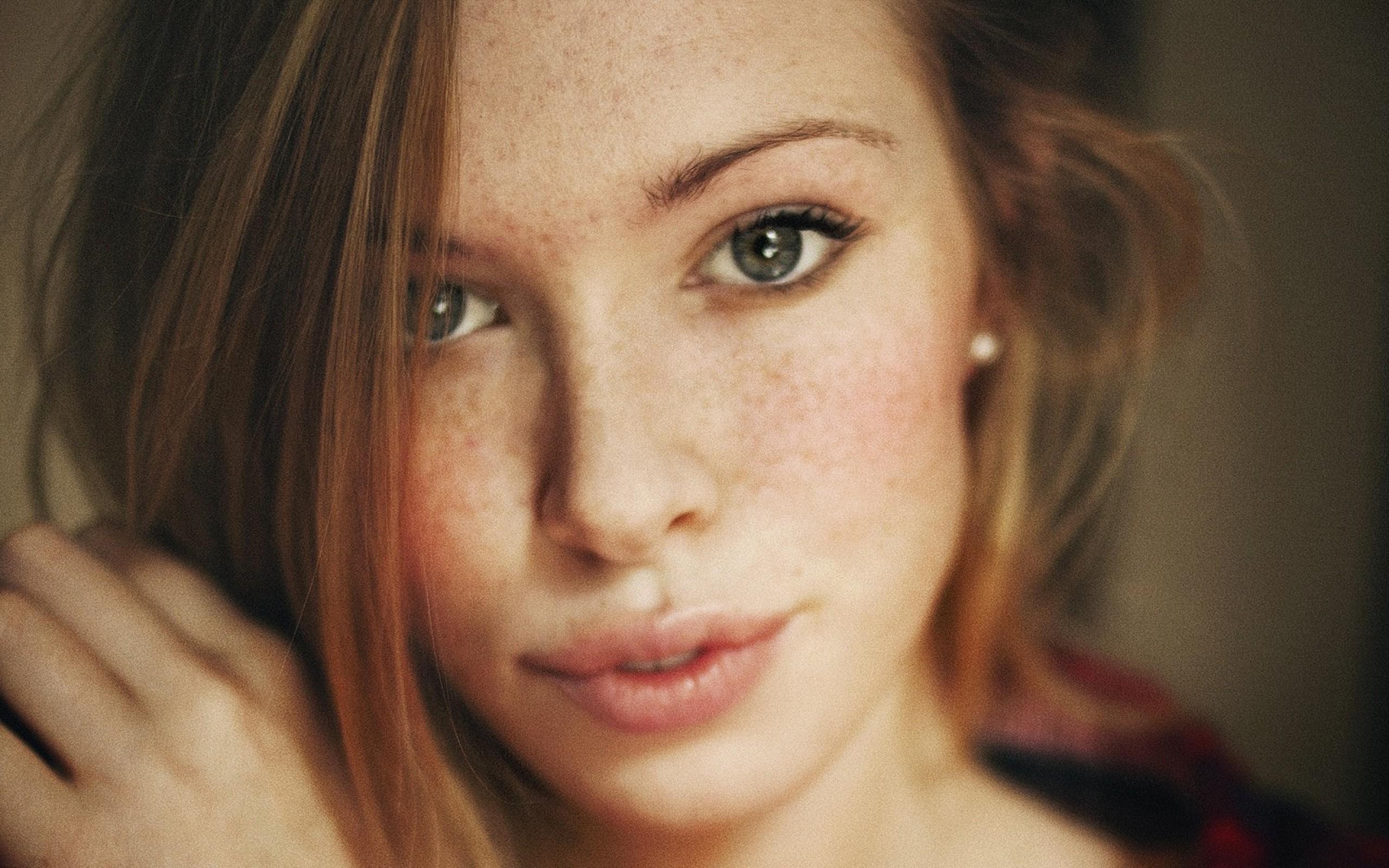Wallpaper Face Women Model Long Hair Blue Eyes: Wallpaper : Face, Women, Redhead, Model, Long Hair, Blue