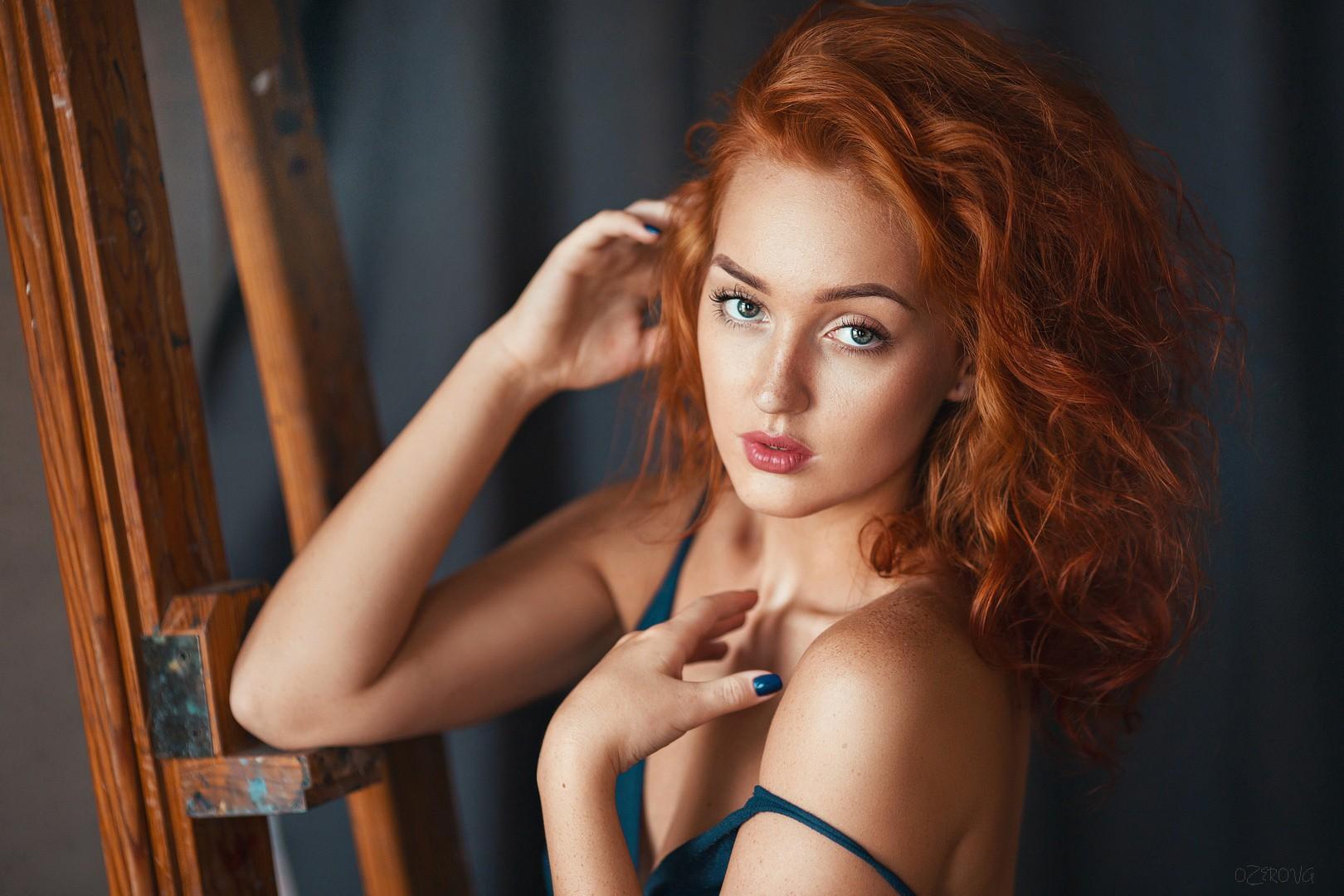 Wallpaper : face, women, redhead, long hair, looking at viewer ...
