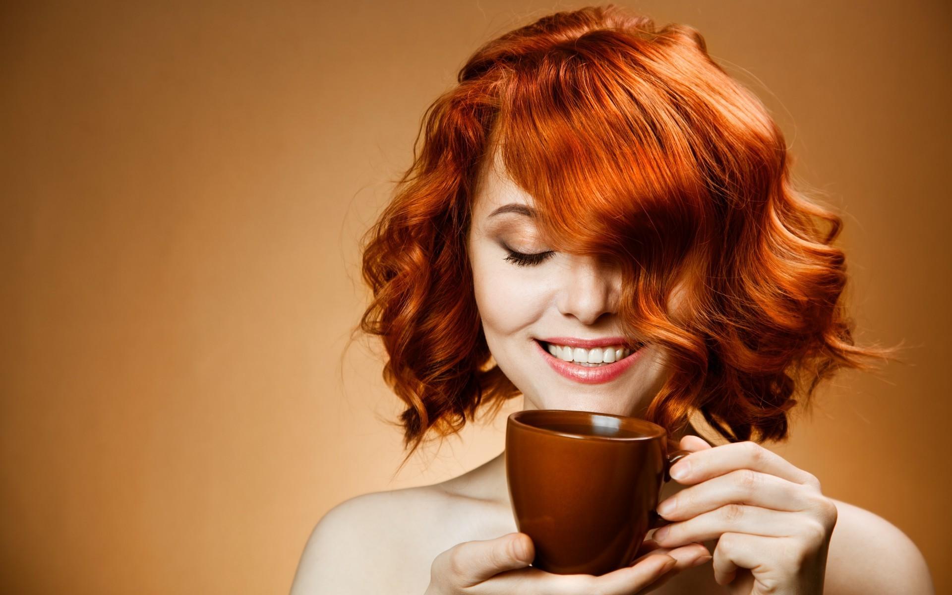 Покрасить рыжие волосы чаем