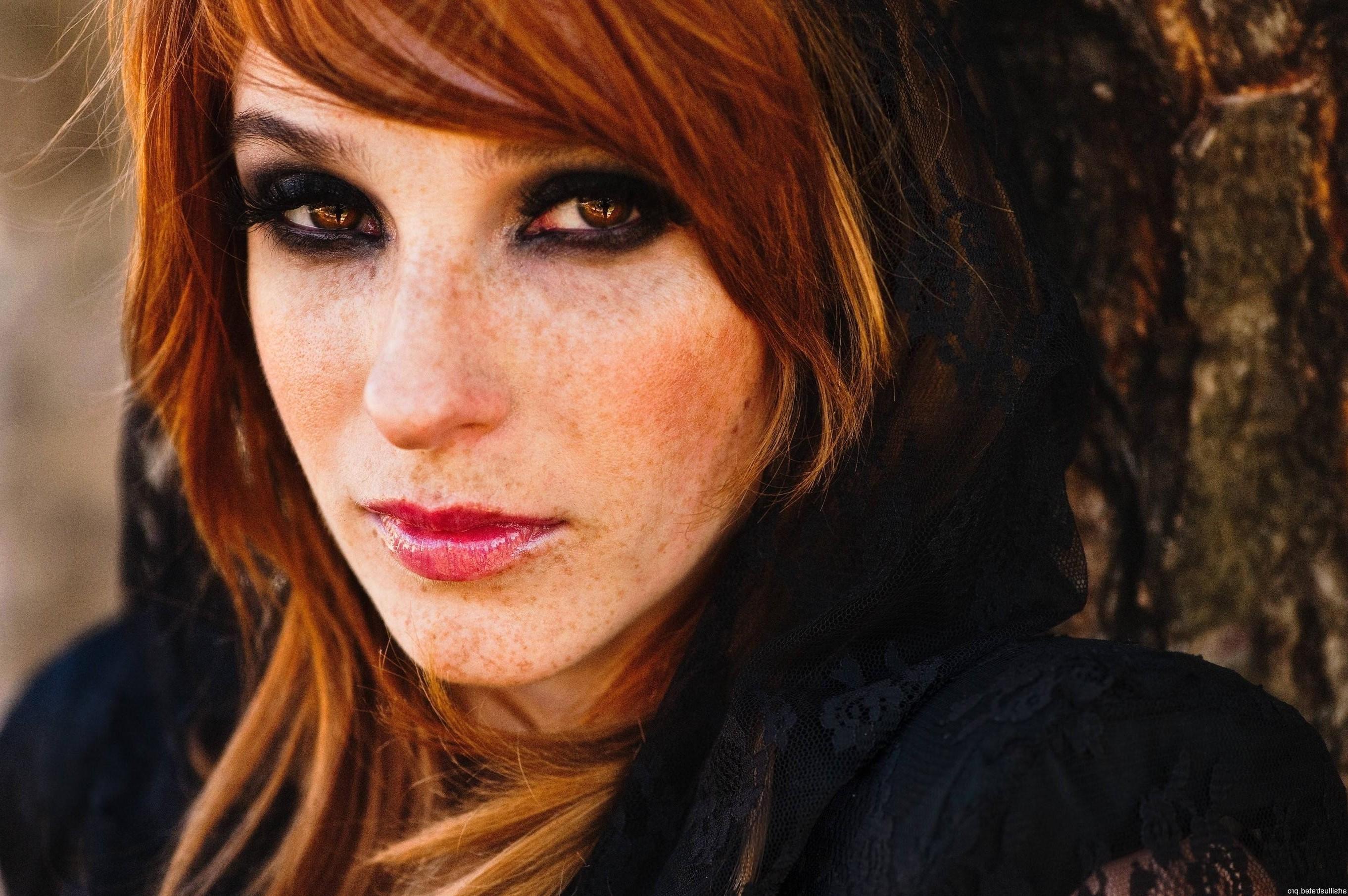 Rote Haare Und Braune Augen Die Typologie Der Haarfarbe