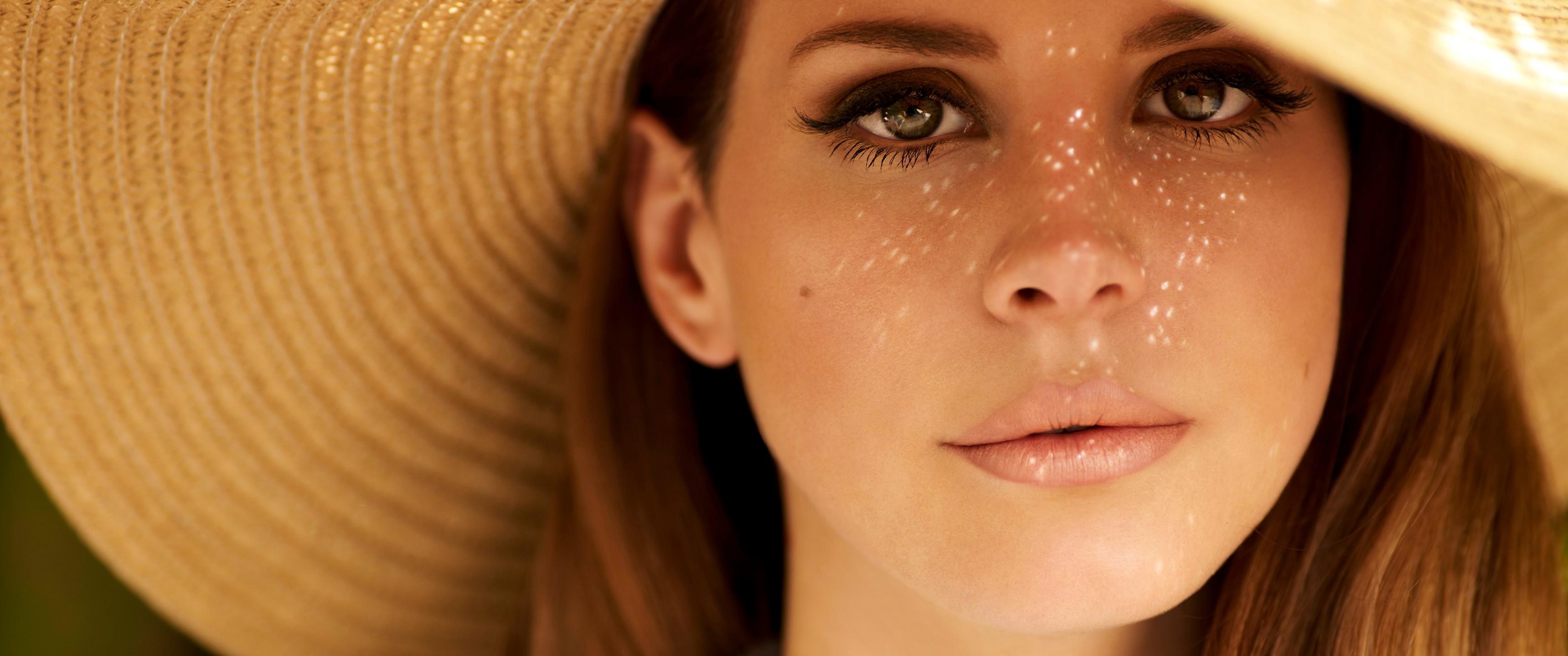 Wallpaper Face Women Model Singer Blue Mouth Nose: Wallpaper : Face, Women, Redhead, Model, Looking At Viewer