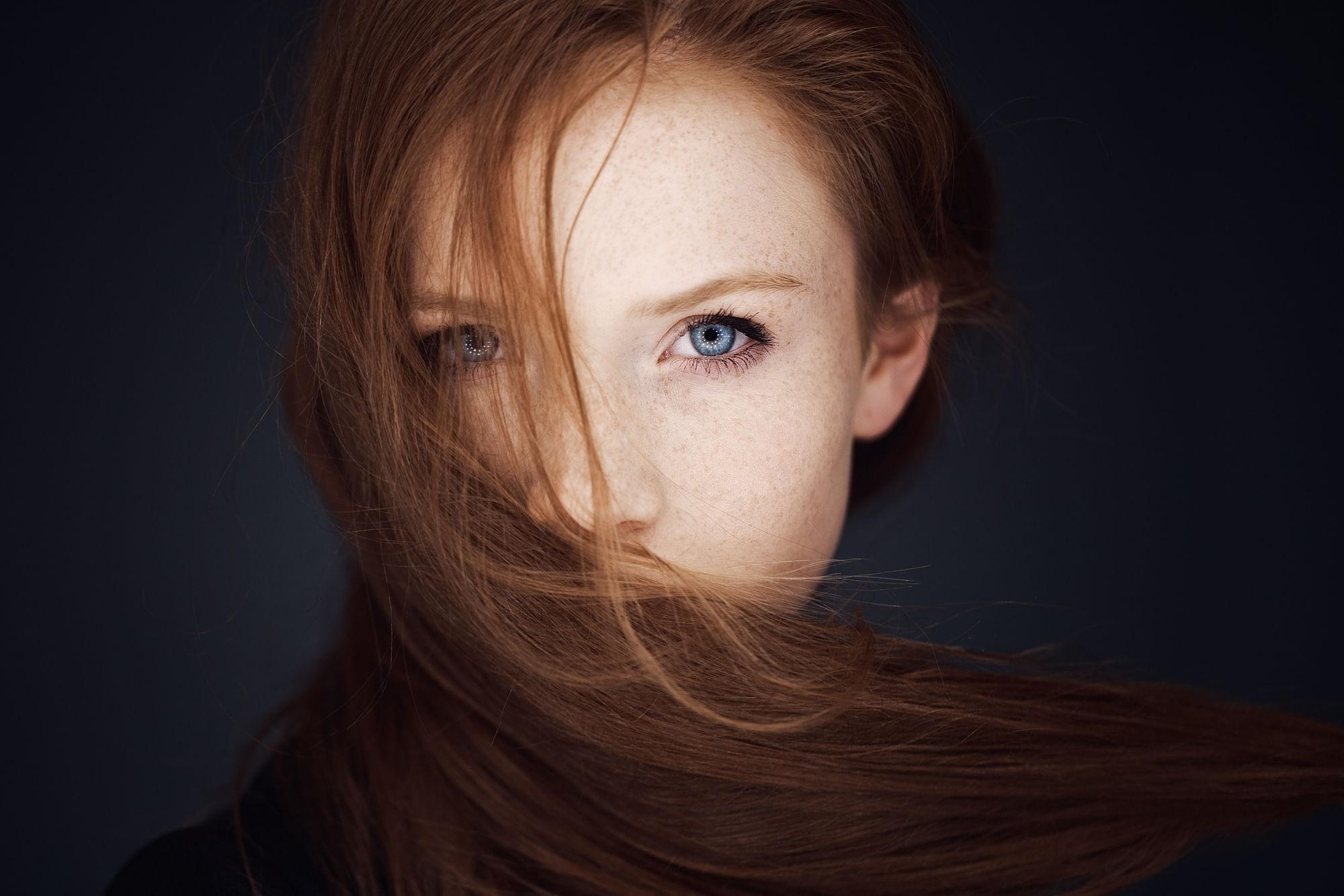 Hintergrundbilder : Gesicht, Frau, Rothaarige, Porträt