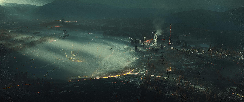Wallpaper Factory Alien Orb Anomaly Smoke City