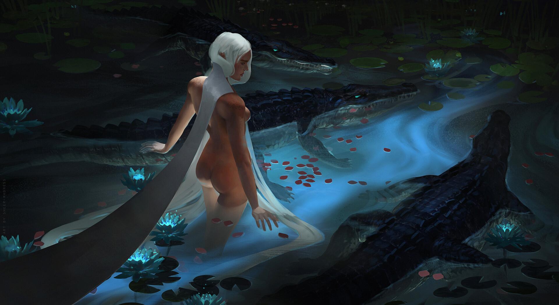 Wallpaper  Fairies, Women, White Hair, Long Hair -8043
