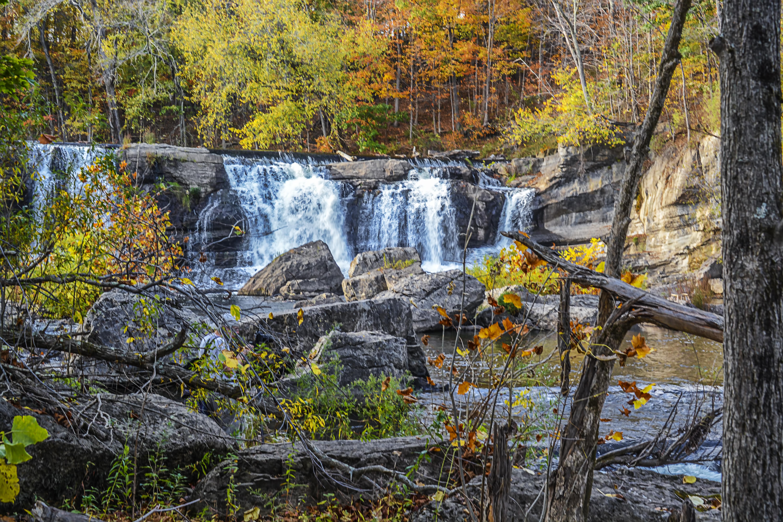 Fall Water Creek Landscape High Woods Rocks Scenic Falls Area Roundout