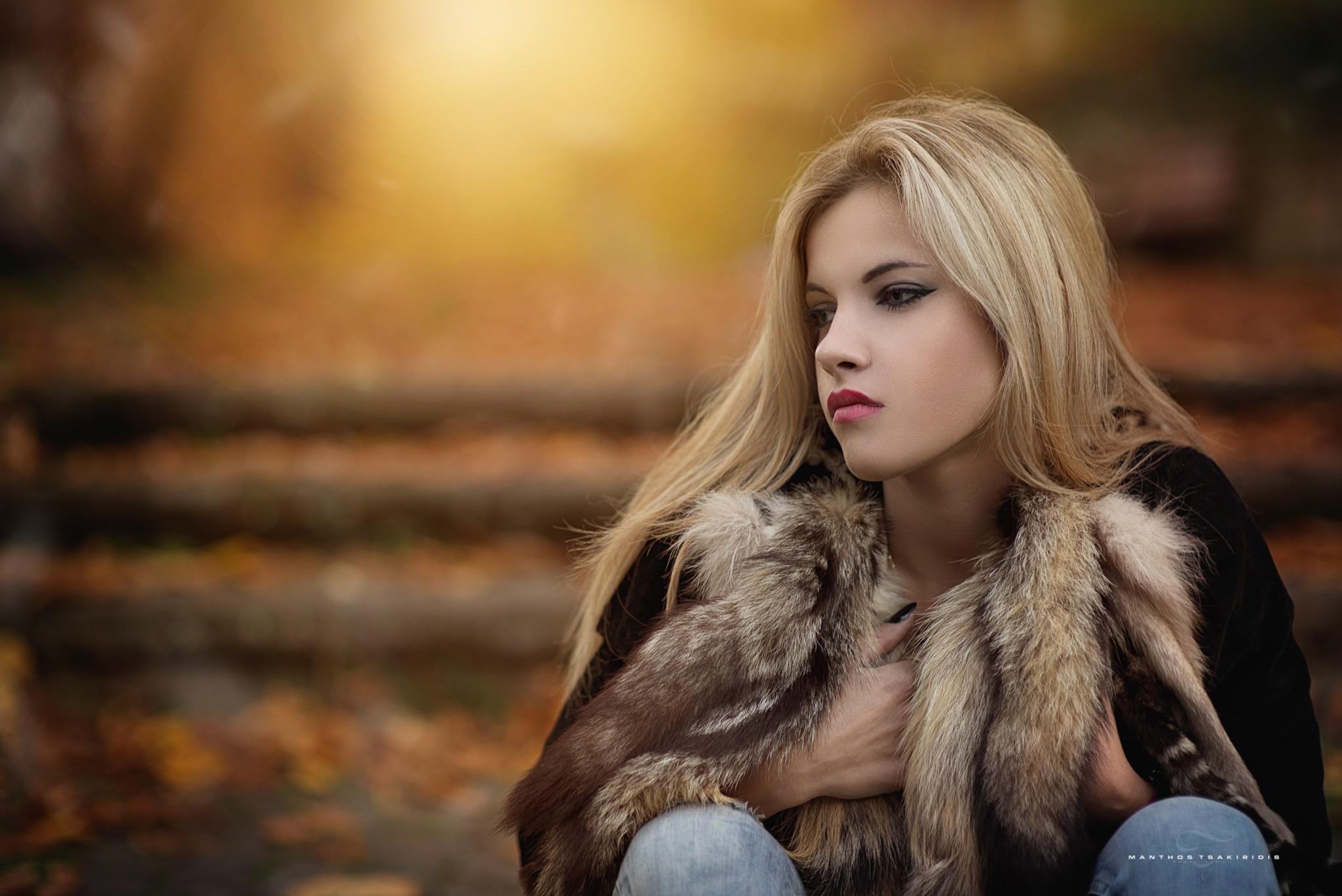 Hair Style Jeans: Wallpaper : Fall, Women Outdoors, Model, Blonde, Long Hair