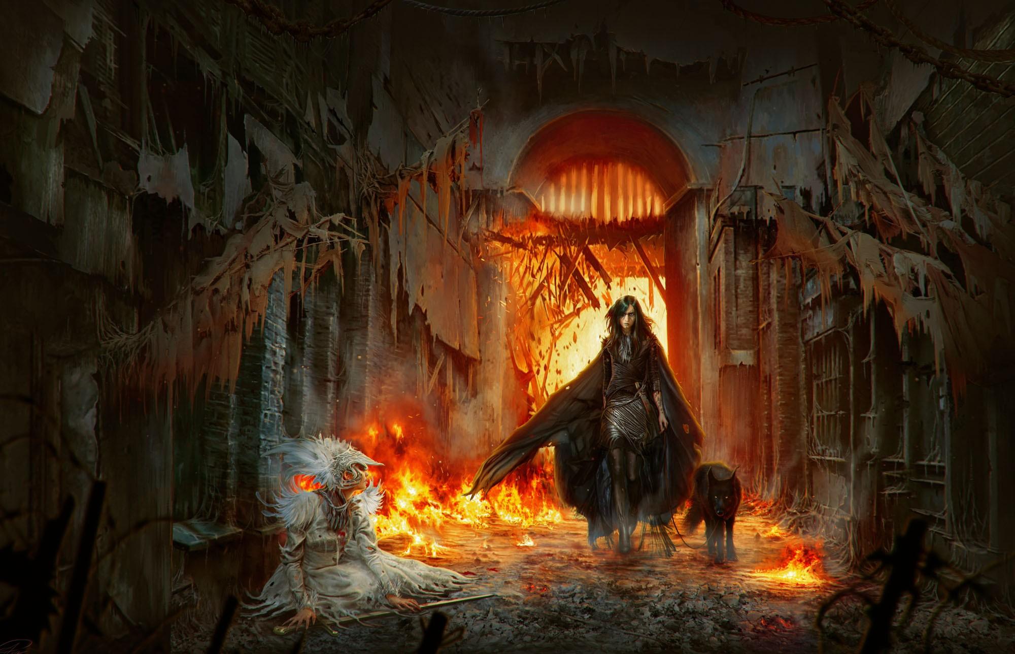 Wallpaper Fantasy Art Deviantart Fire Screenshot