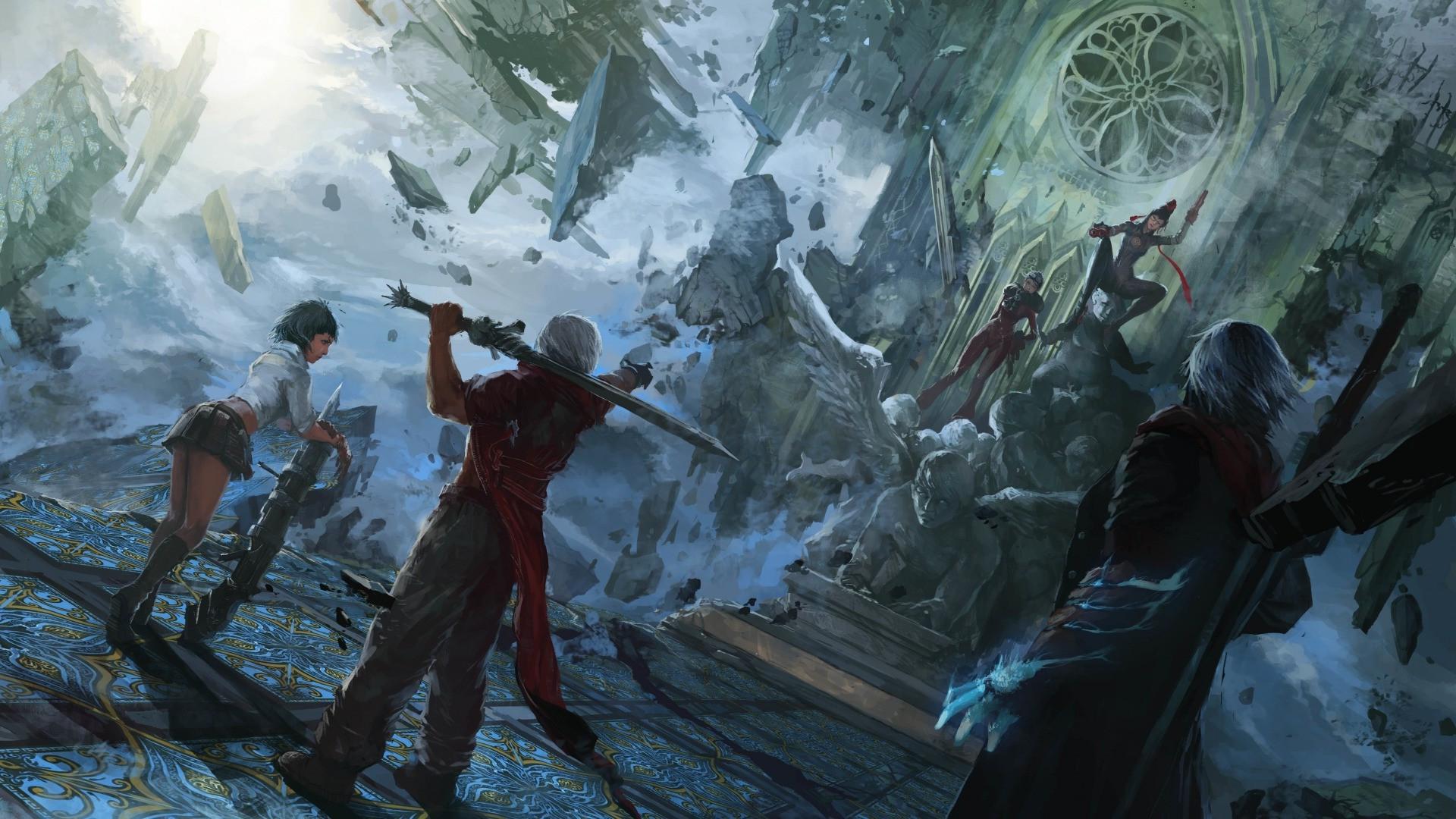 Wallpaper Fantasy Art Devil May Cry Bayonetta Mythology