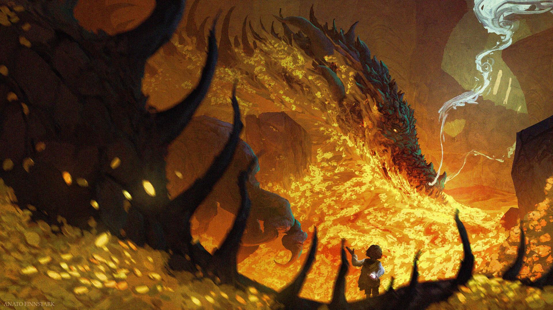 Картинки пещеры с золотом драконе