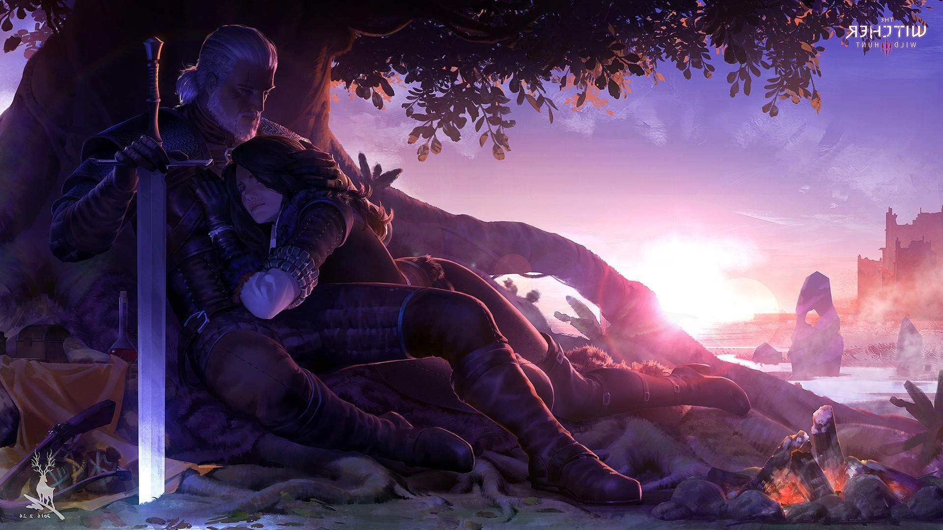 fantasy art The Witcher mythology screenshot 1920x1080 px