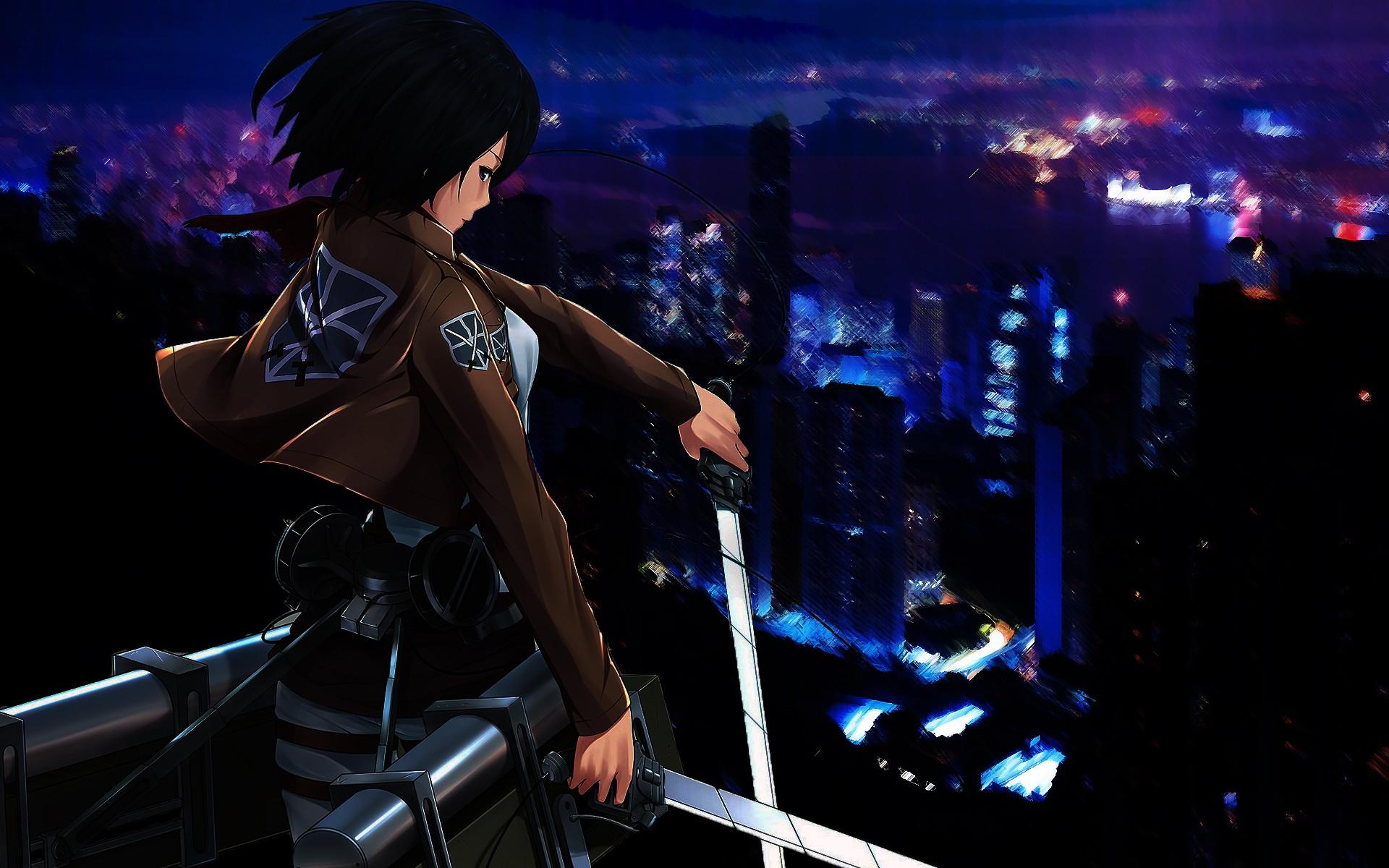Fond d'écran : Art fantastique, Anime, Filles anime, ciel, Manga, Shingeki no Kyojin, Mikasa ...