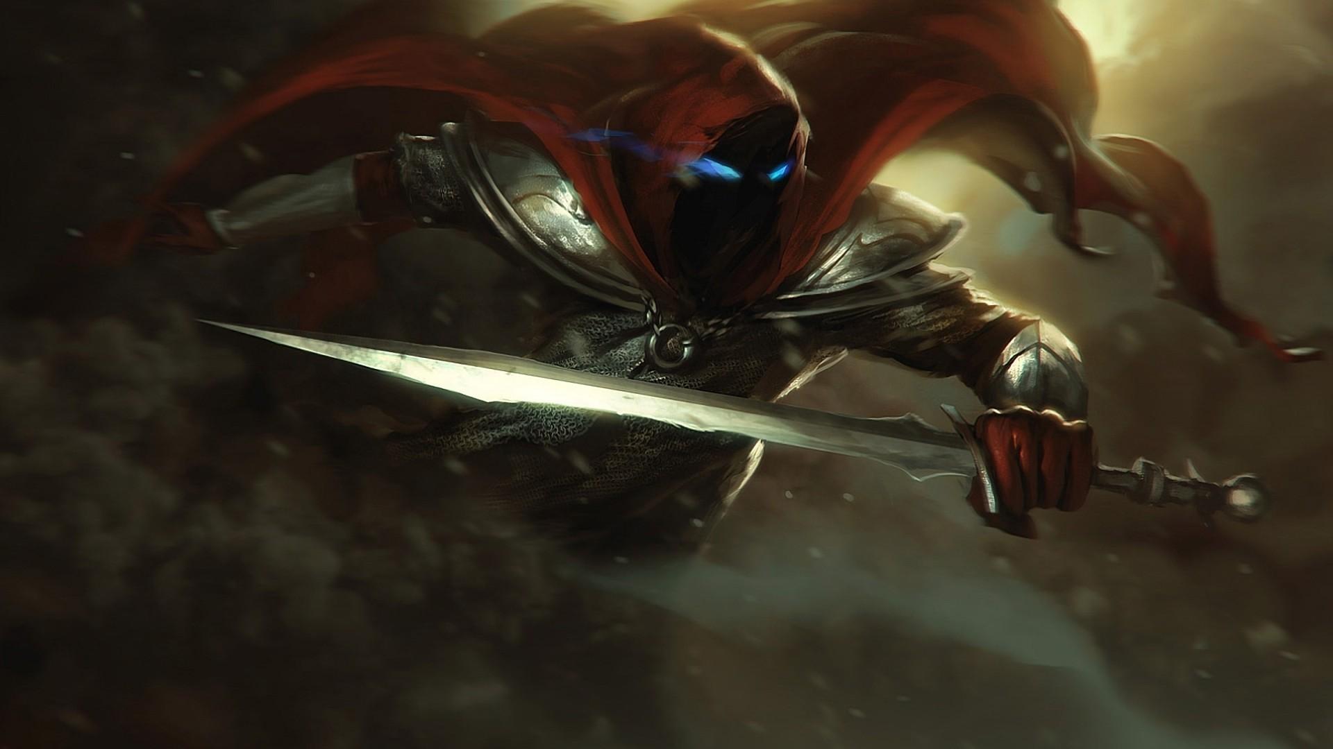 Dark Blue Sword Fantasy Art