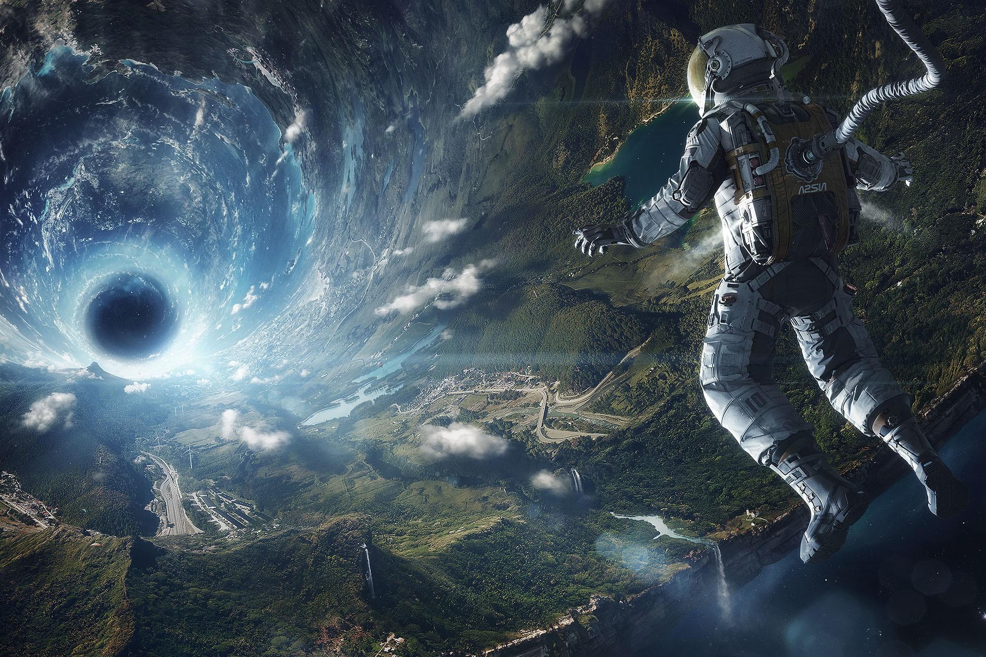 Fondos de pantalla arte fantas a anime cielo tierra for Espacio exterior 4k