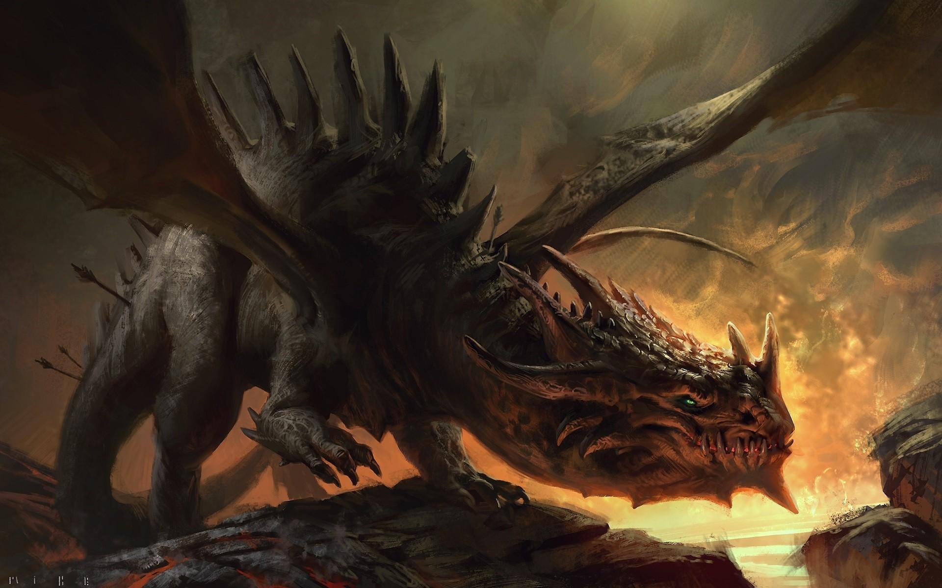 Wallpaper : fantasy art, artwork, dragon, demon, mythology ...