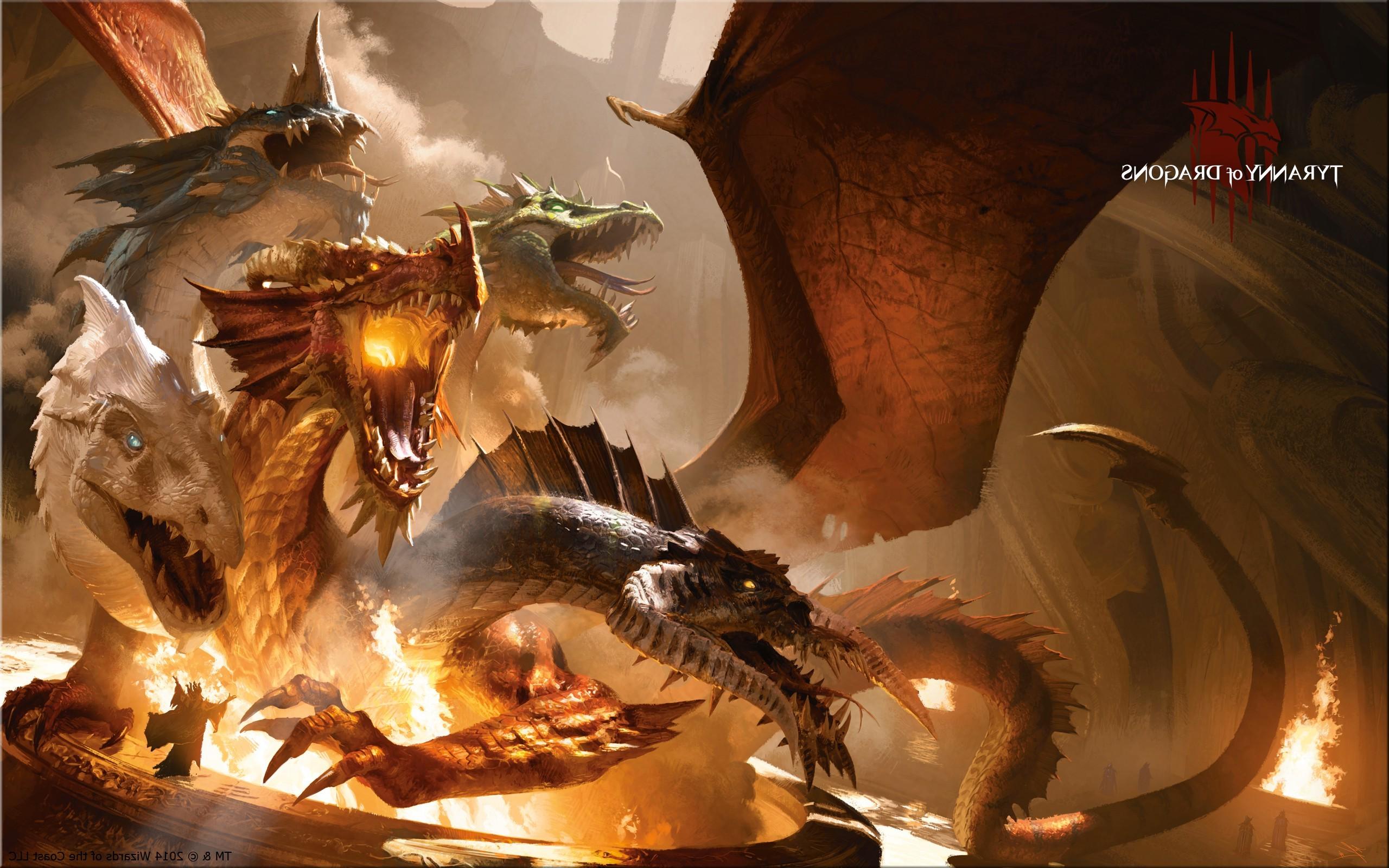 Fantasy Art Artwork Dragon Mythology Tiamat Dungeons And Dragons Screenshot 2560x1600 Px