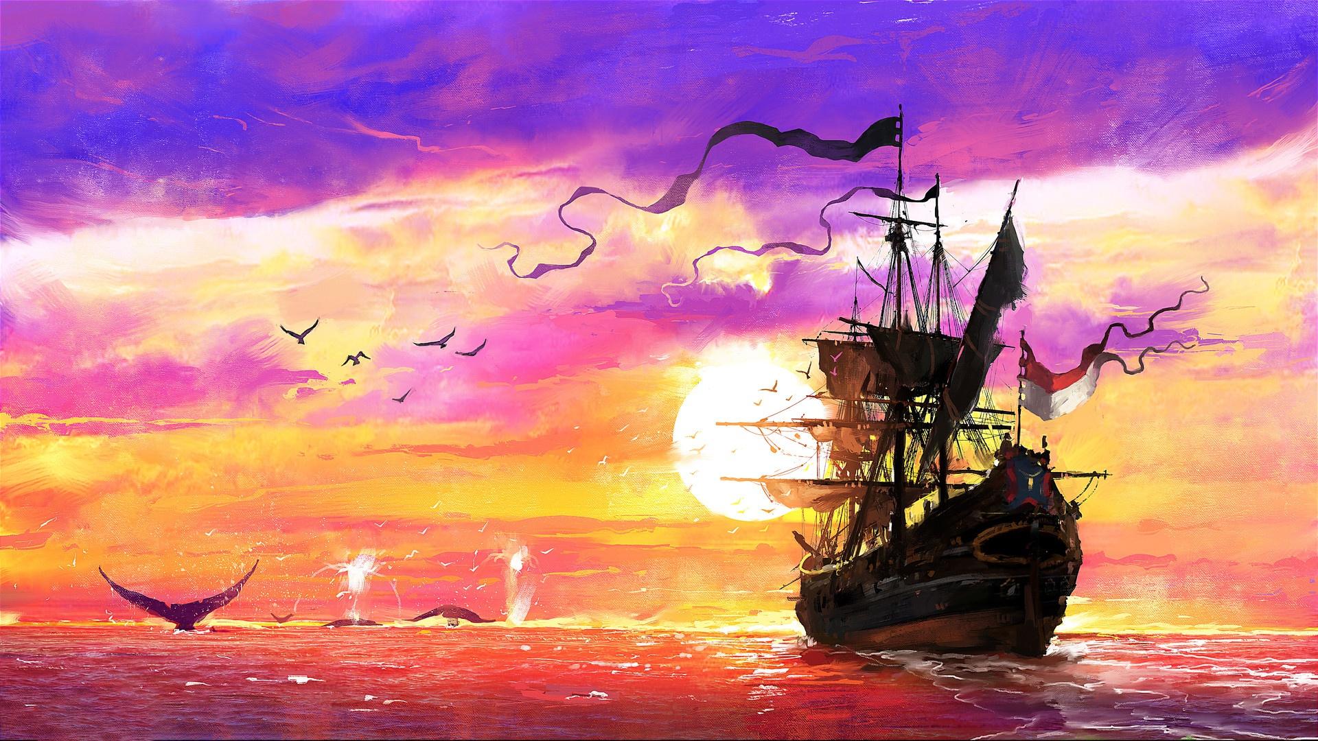 картинки фэнтези небо и корабль новой родной вспышки