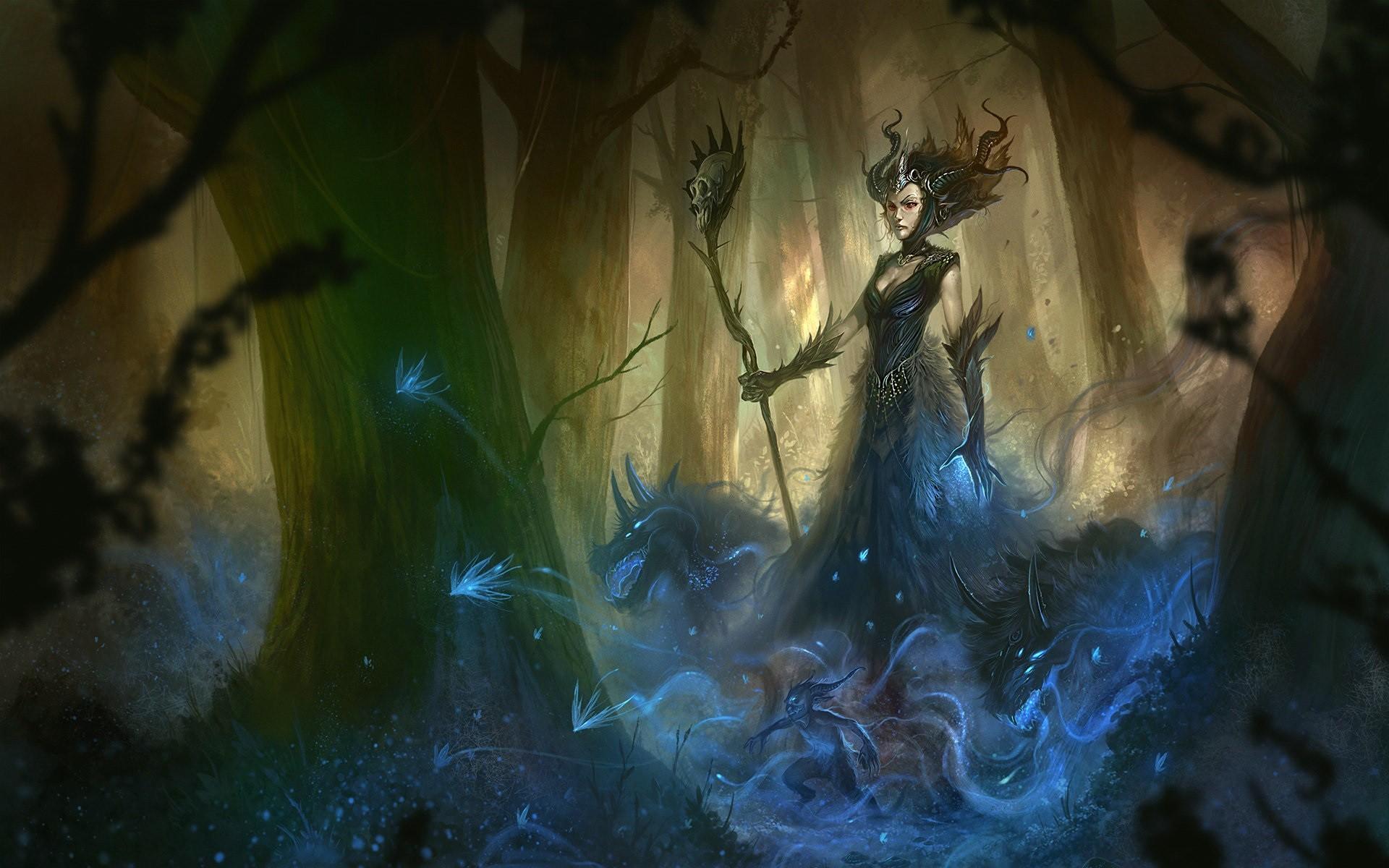 Wallpaper : fantasy art, artwork, witch, mythology