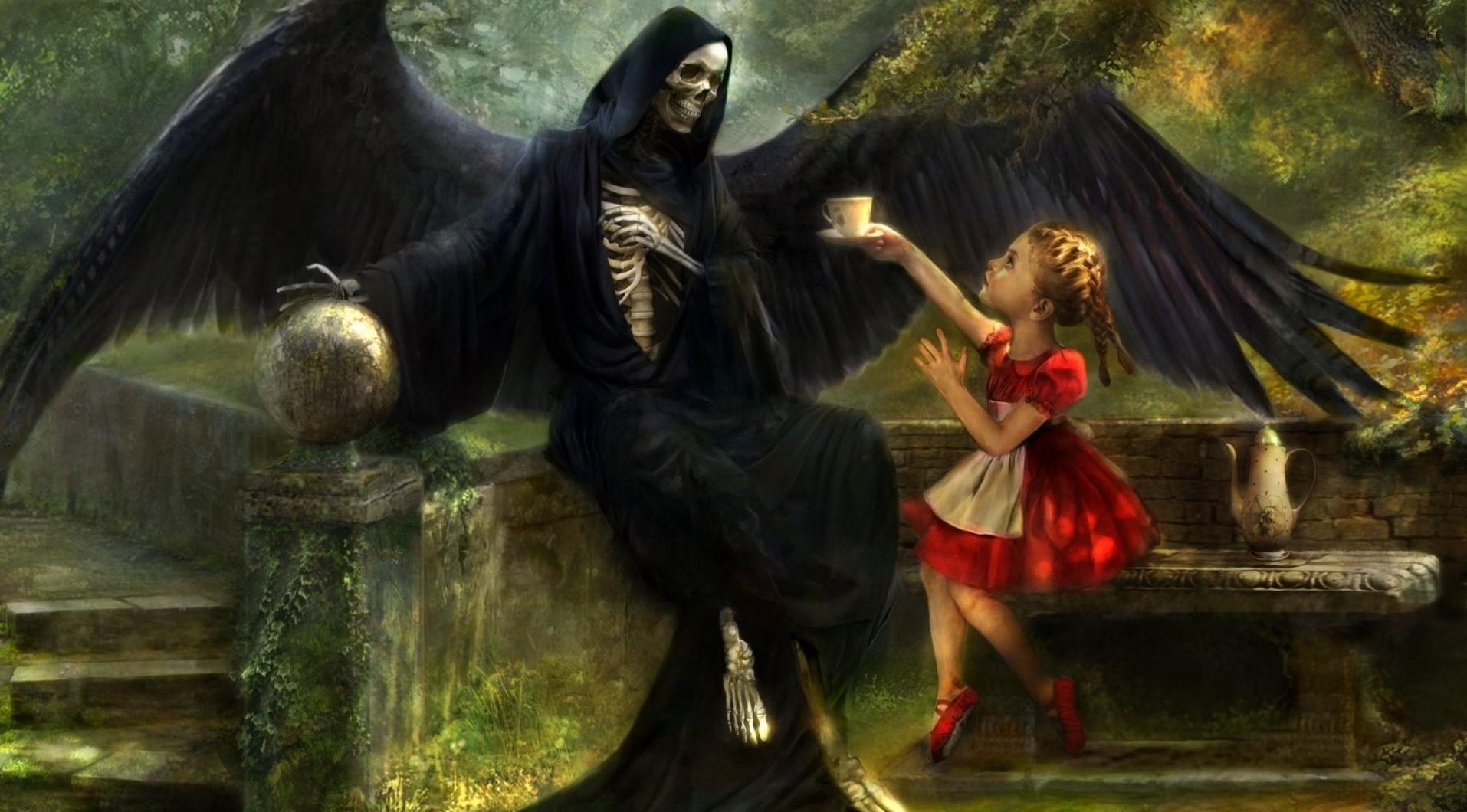 Ангел и демон дети картинки