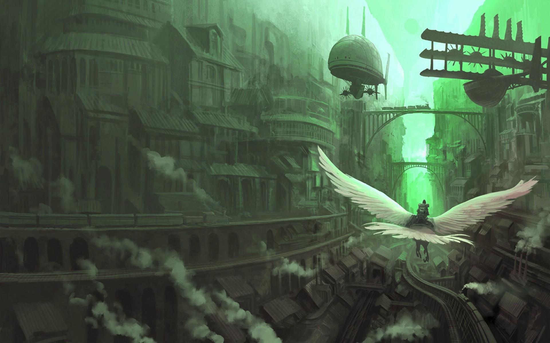 デスクトップ壁紙 ファンタジーアート シティ 緑 闇 スクリーンショット 19x10 Px コンピュータの壁紙 Pcゲーム 19x10 Wallpaperup デスクトップ壁紙 Wallhere