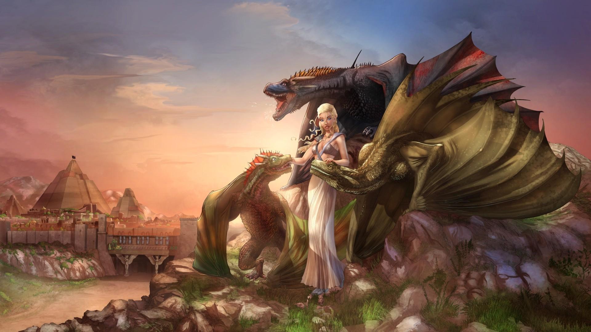 Wallpaper Fantasy Art Dragon Fan Art Game Of Thrones Mythology