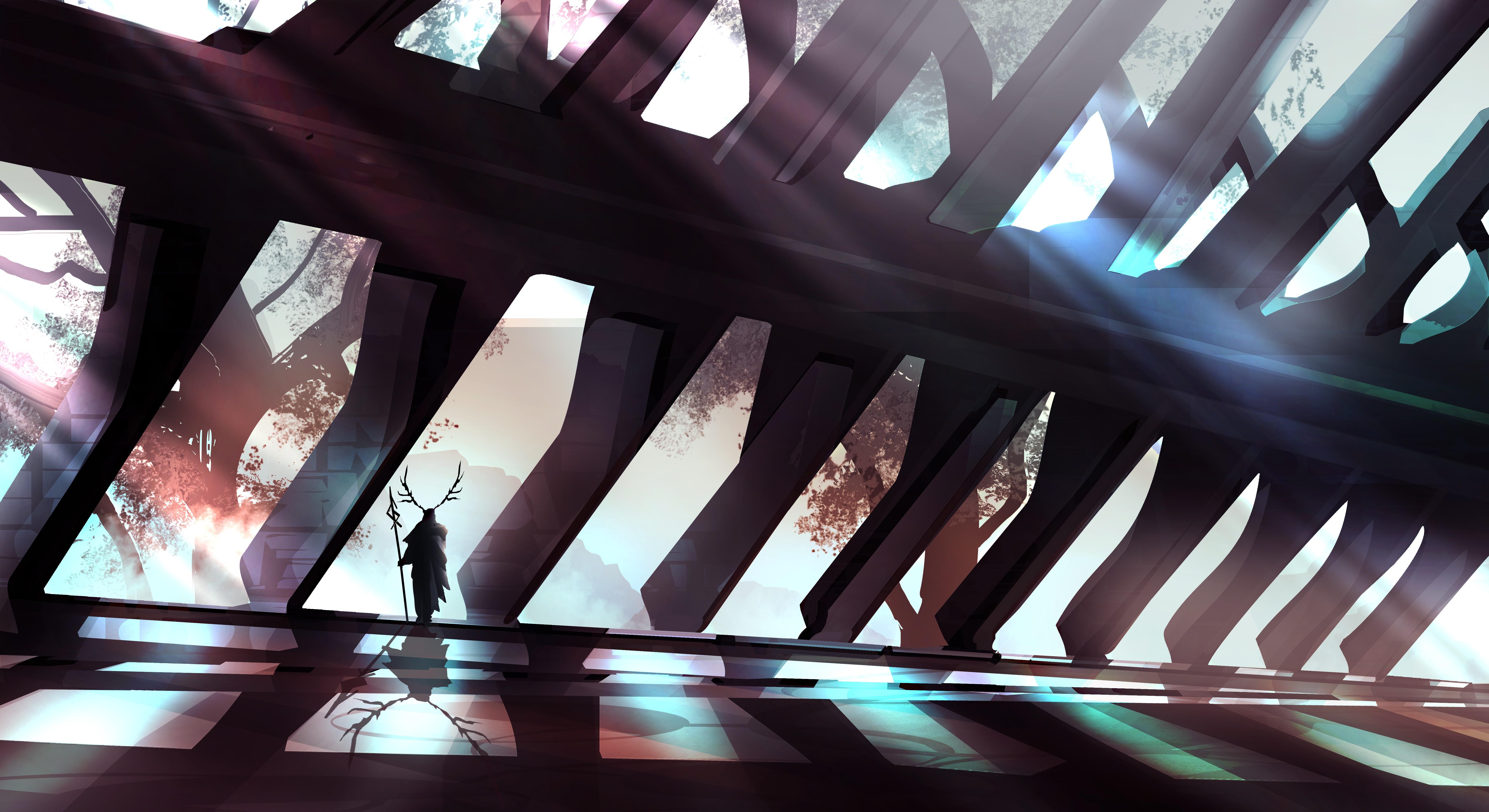 Sfondi : fantasy art elfi interior design corna leggero colore
