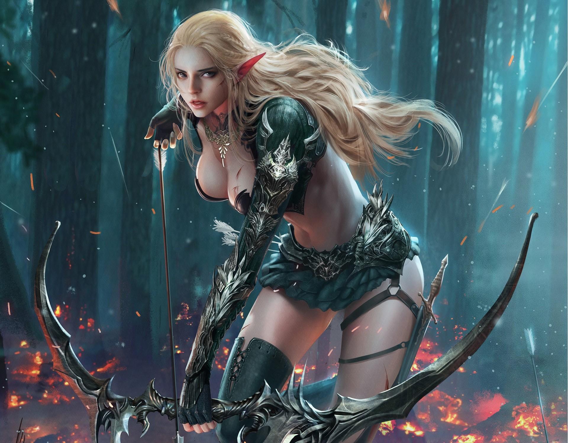 Wallpaper : Fantasy Art, Fantasy Girl, Anime, Archer