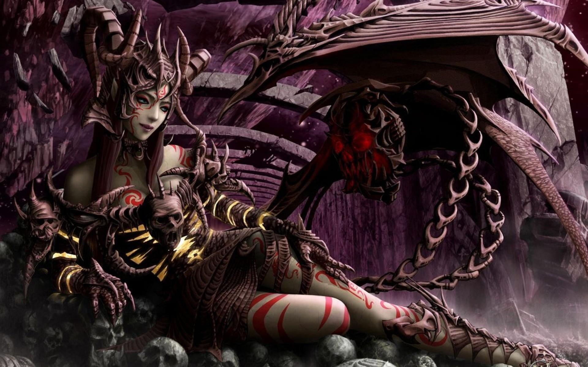 Wallpaper : fantasy art, fantasy girl, dragon, comics ... Succubus Art Wallpaper