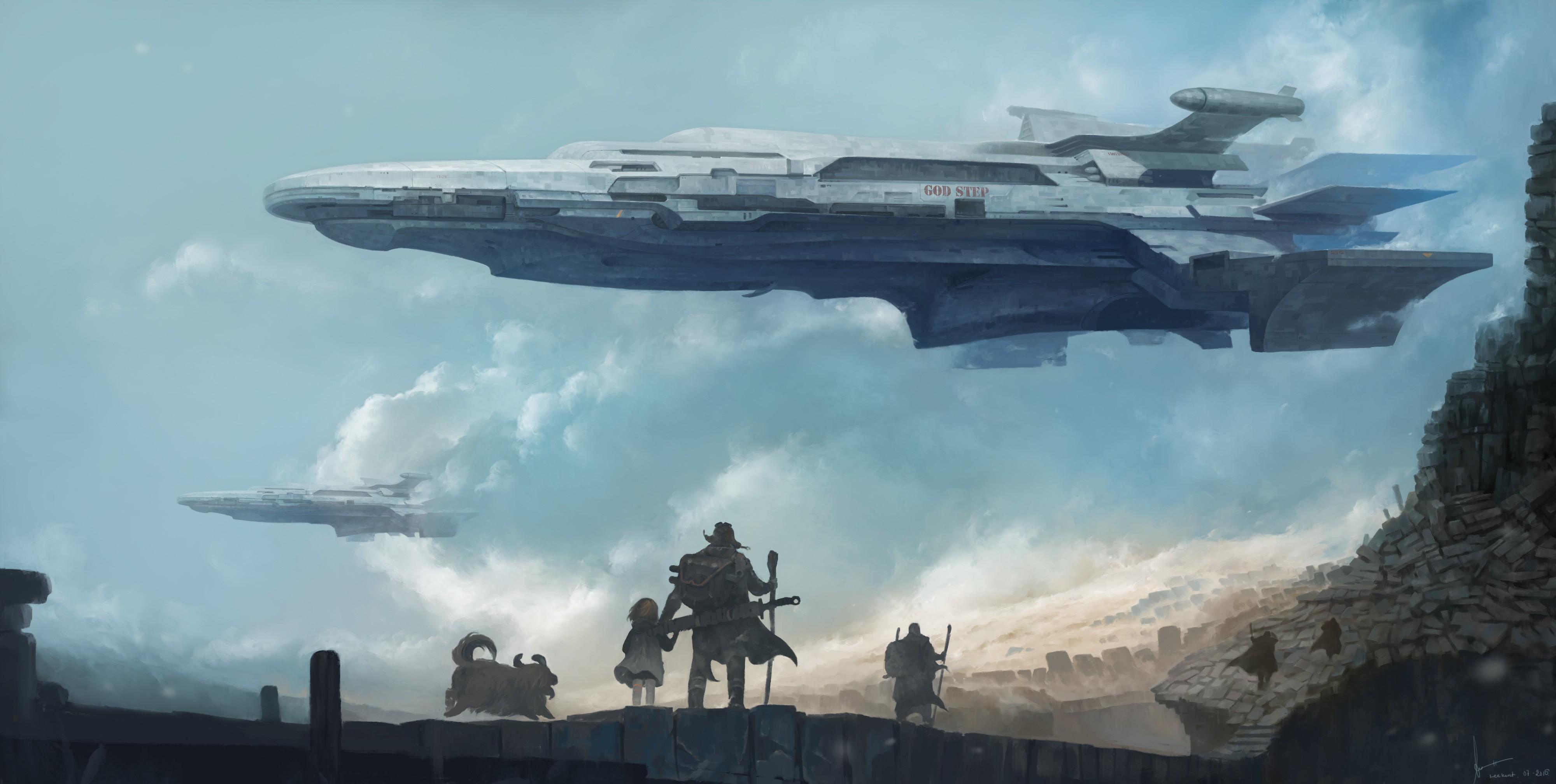 Wallpaper : Fantasy Art, Futuristic, Vehicle, Artwork