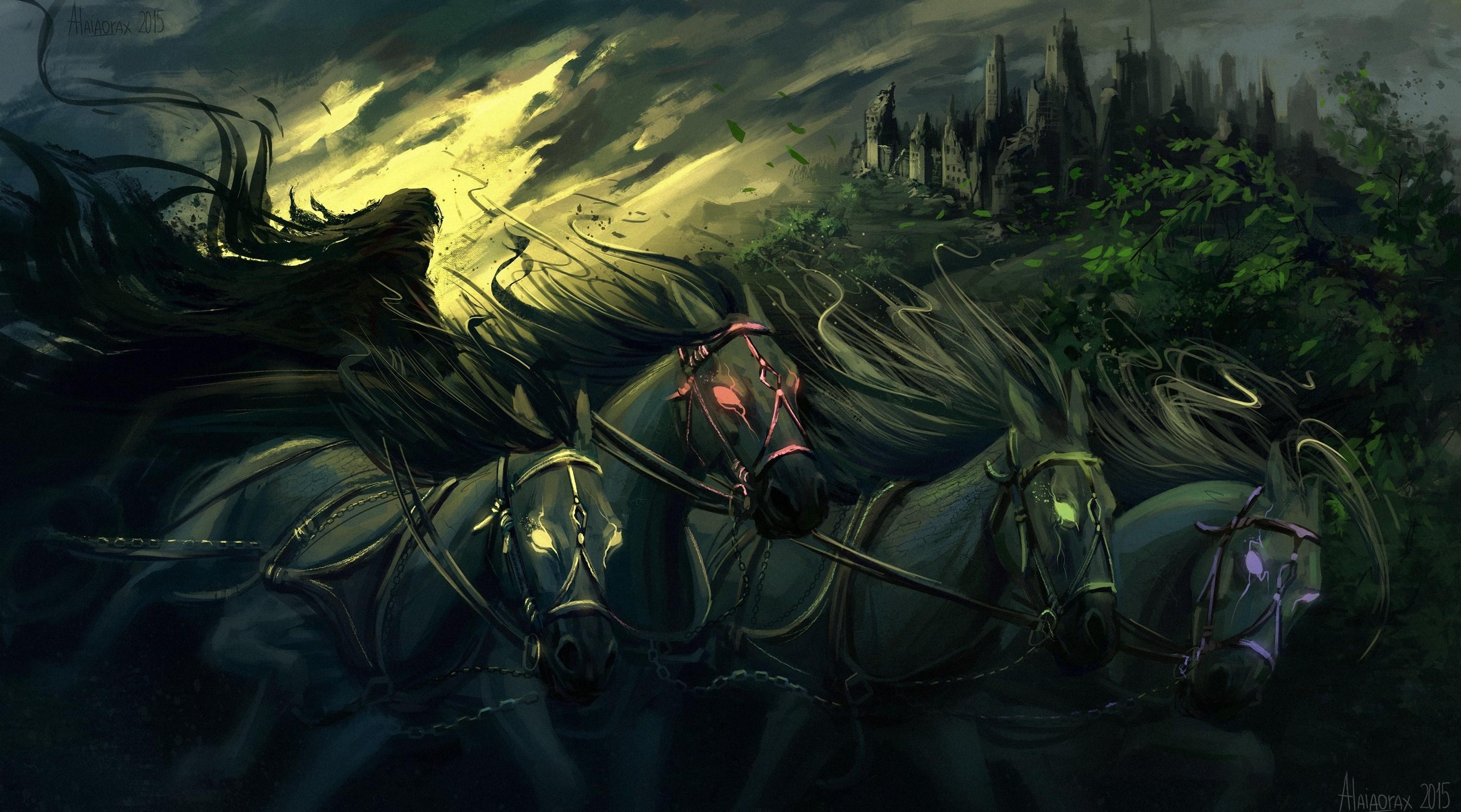 Wallpaper Fantasy Art Horse Artwork Death Grim Reaper