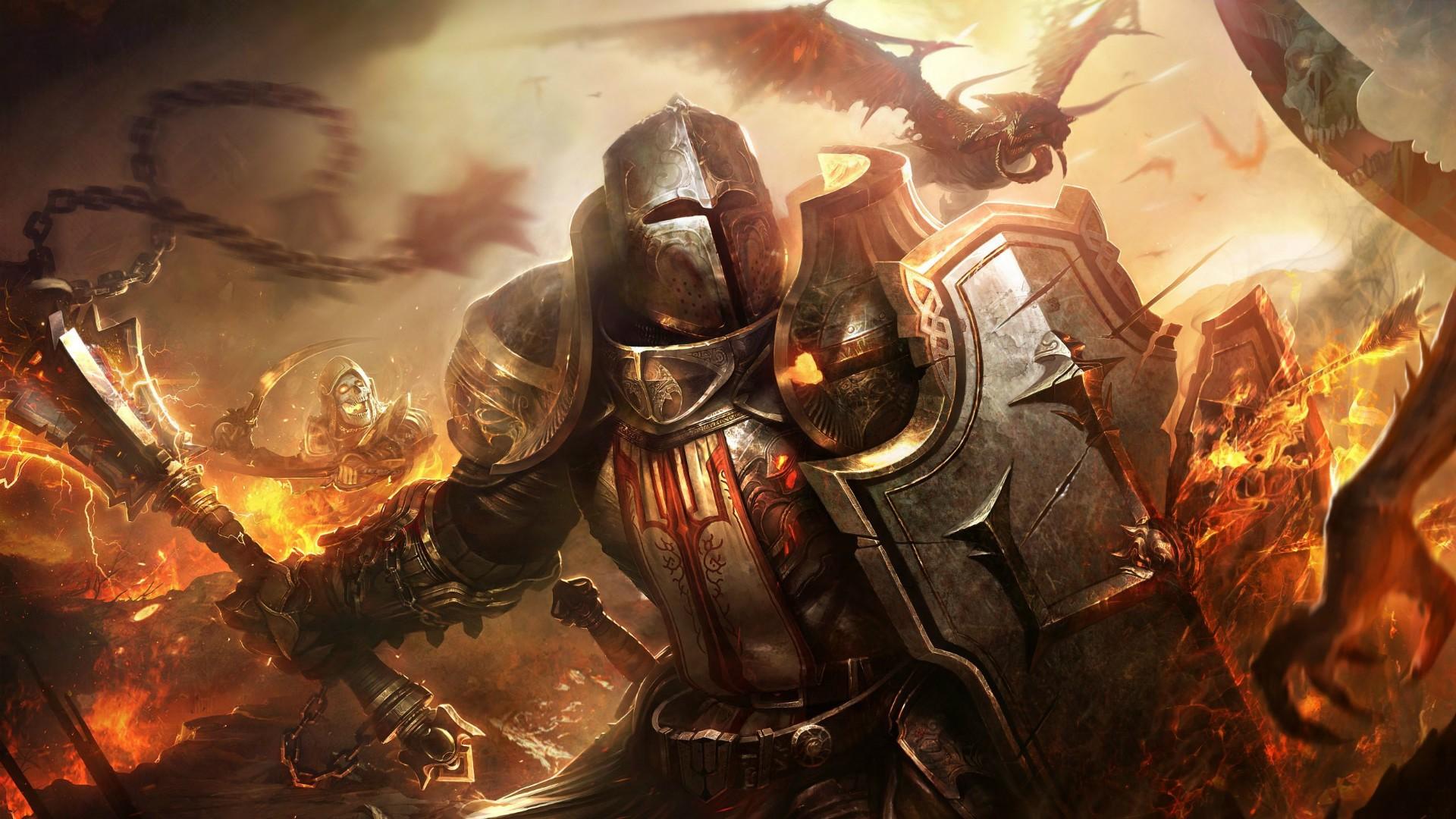 Fantasy Art Knight Dragon Shield Crusaders Person Mythology Diablo 3 Reaper Of Souls Games Screenshot Warlord