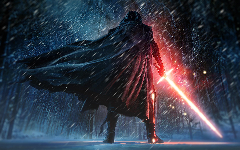 Wallpaper fantasy art lightsaber star wars the force - Star wars the force awakens desktop wallpaper ...