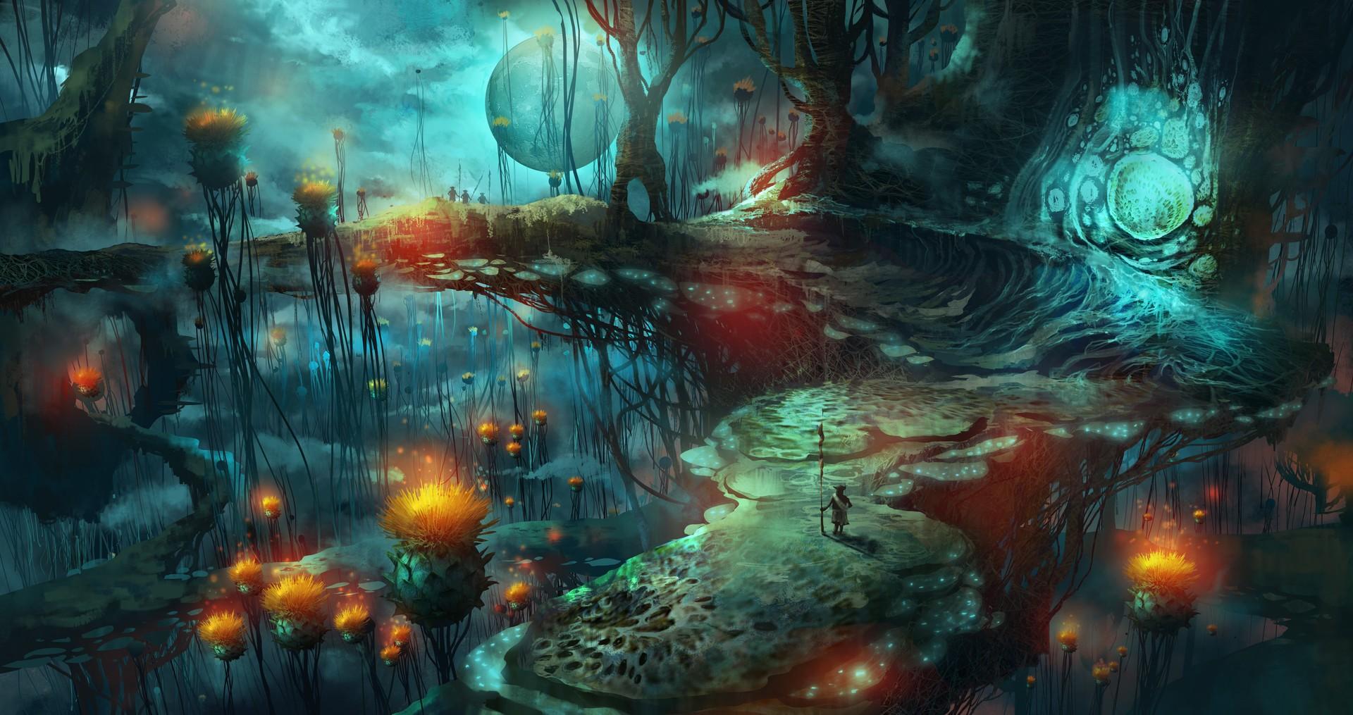 Psychedelic Mushroom Wallpaper
